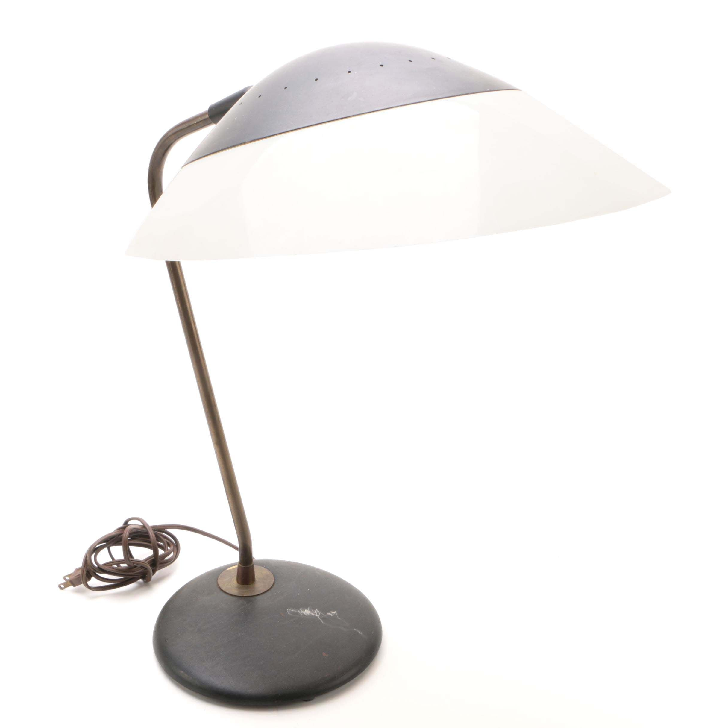 Mid Century Modern Desk Lamp with Saucer Shade