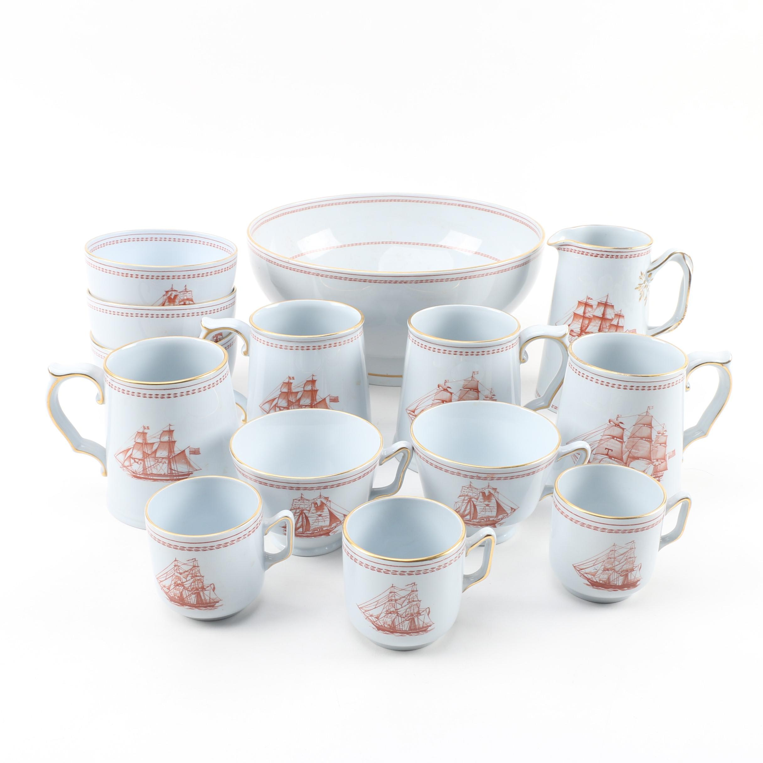 """Spode """"Trade Winds Red"""" Tableware"""
