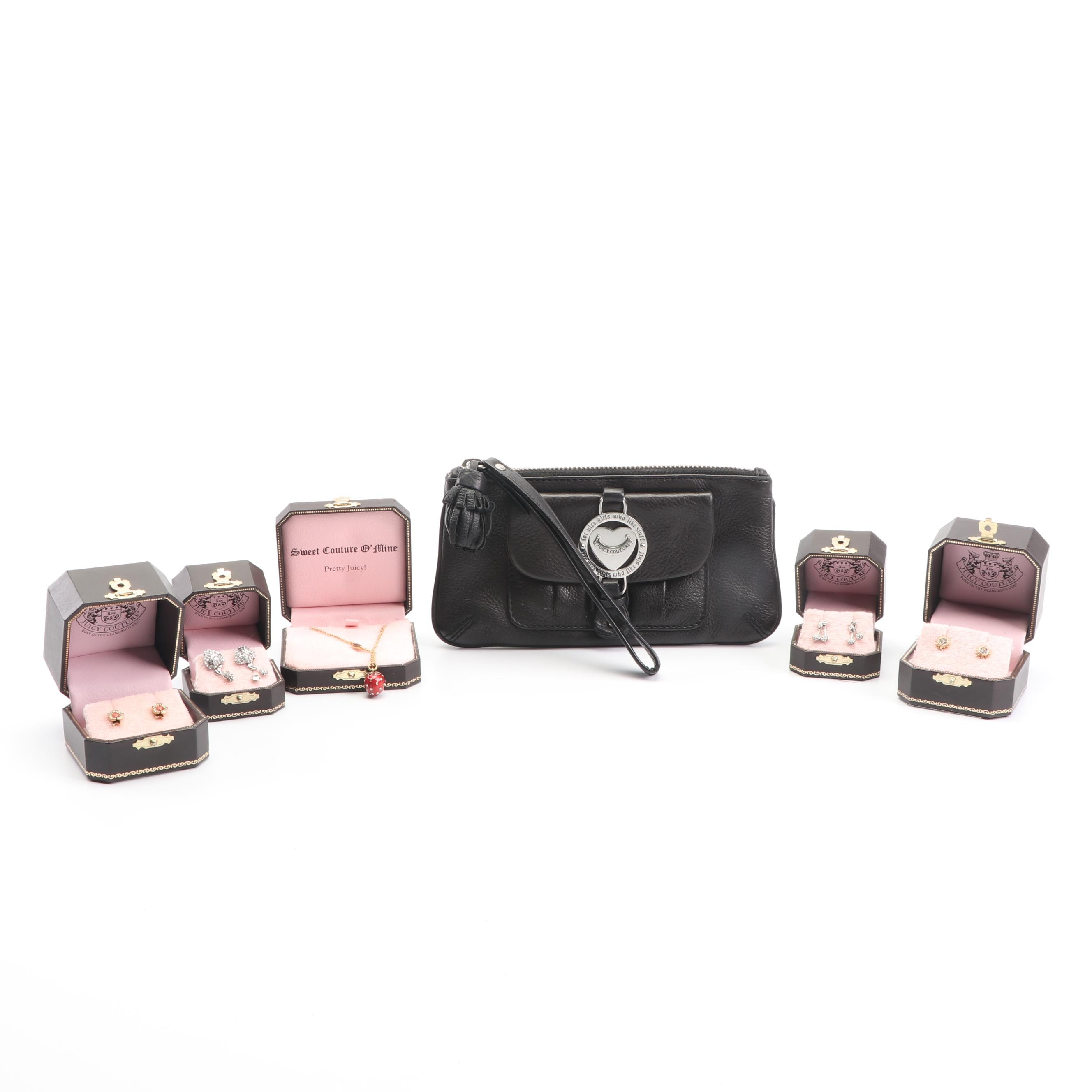 Juicy Couture Clutch, Necklace and Earrings