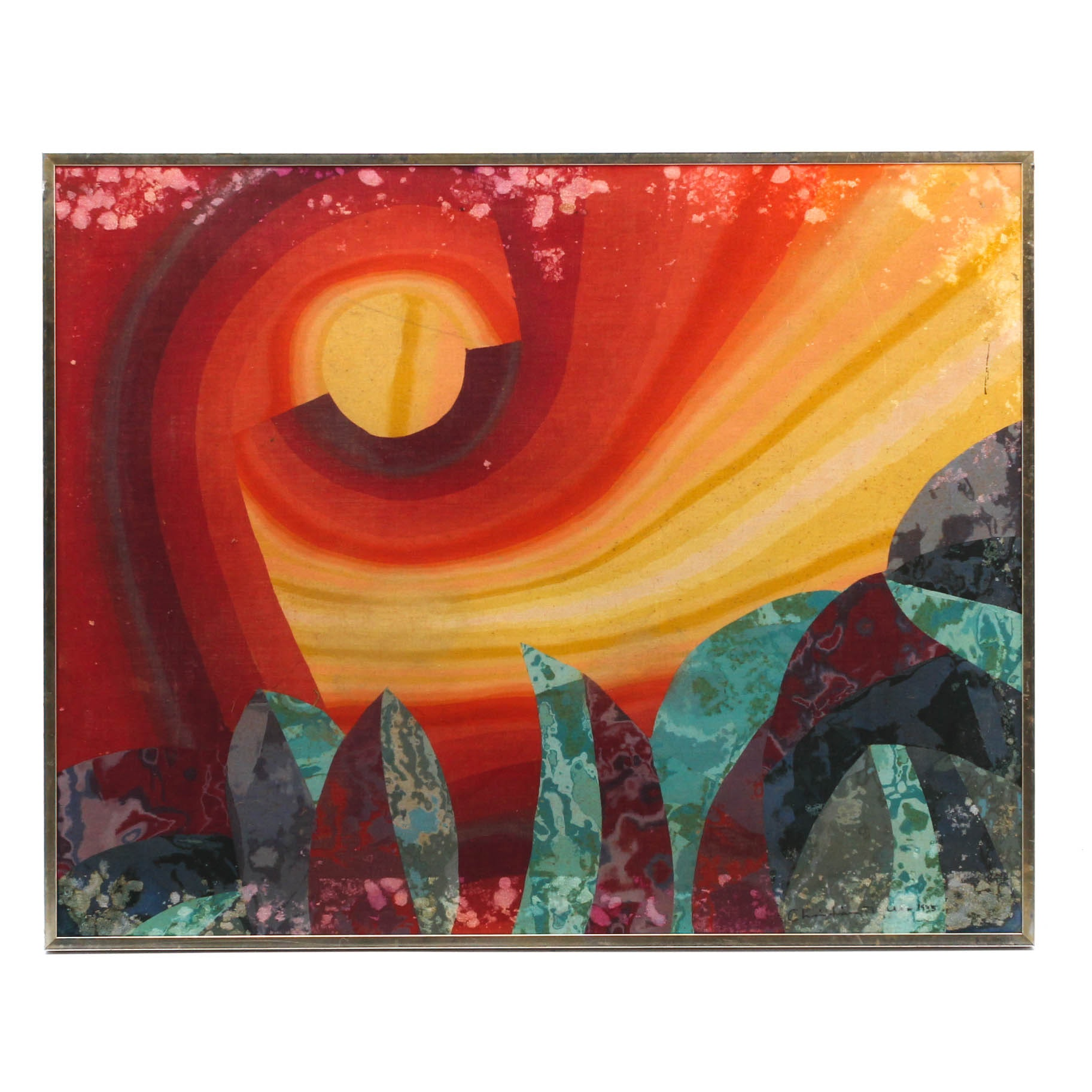 Vintage Abstract Acrylic Painting