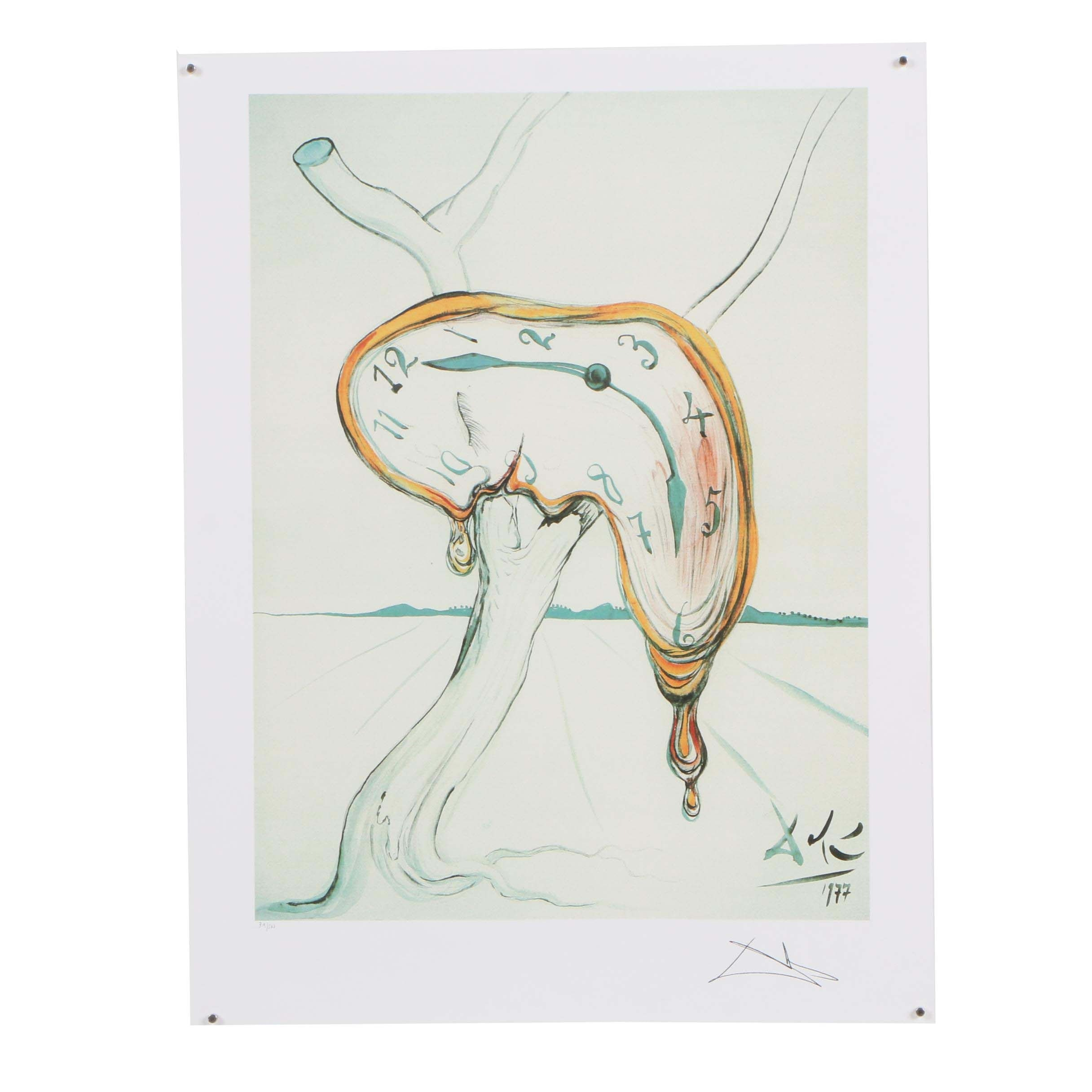 "Giclée after Salvador Dali ""Tearful Soft Watch"""