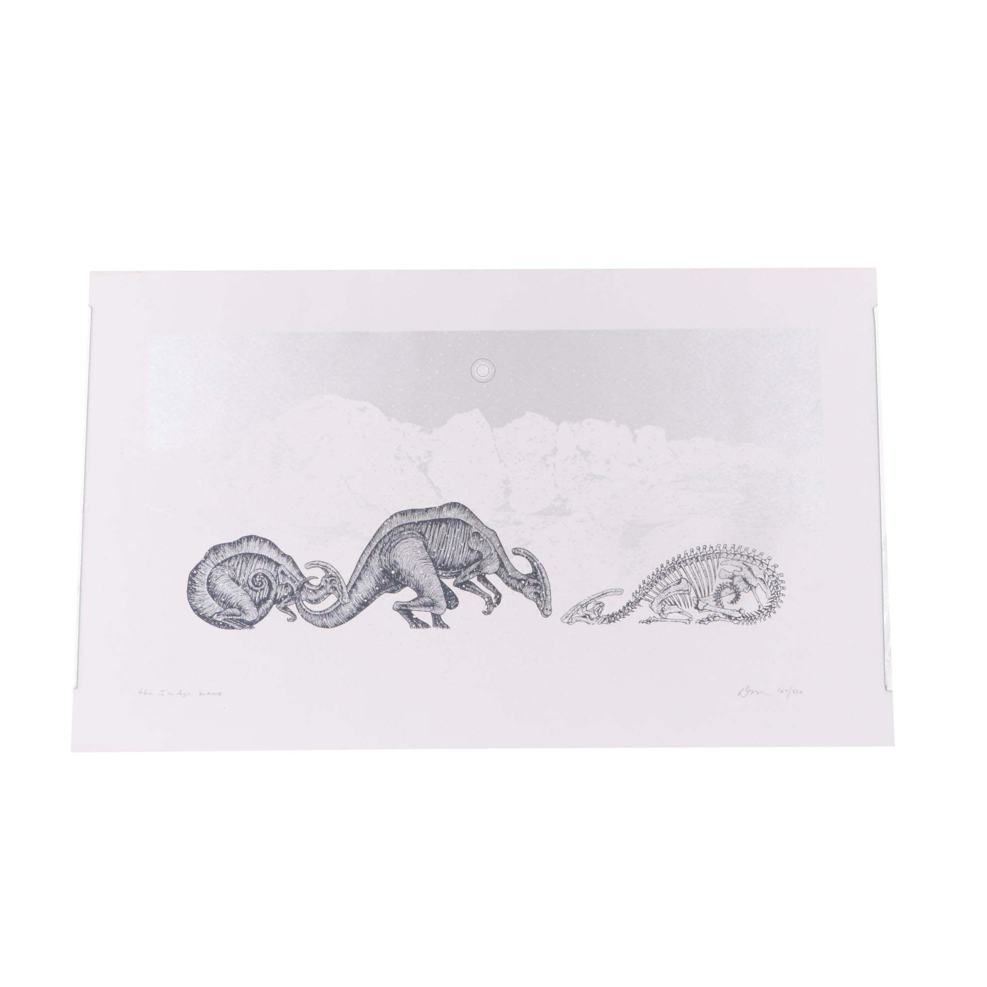 "Dan McCarthy 2008 Limited Edition Serigraph ""The Ice Age"""