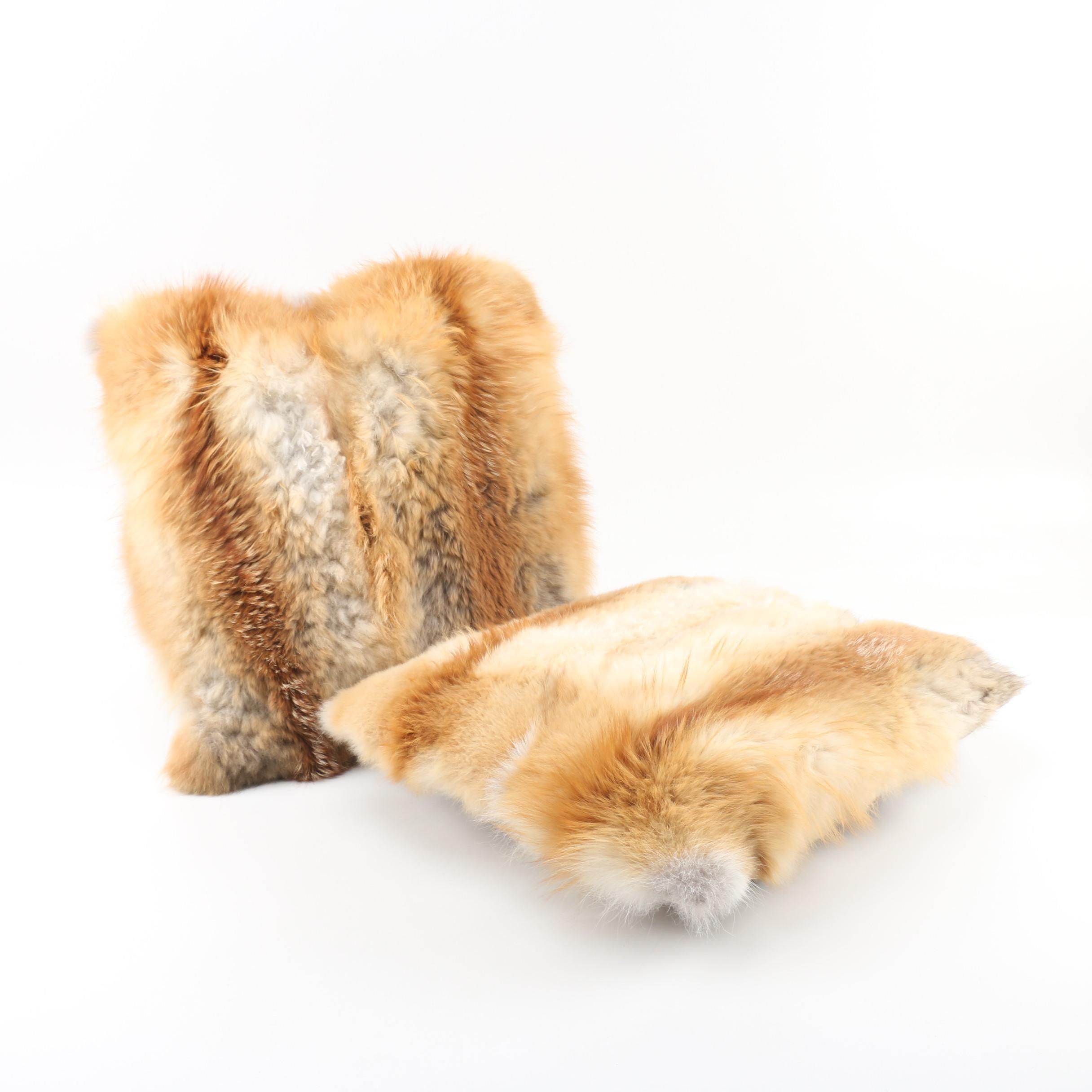 Fox Fur Throw Pillows