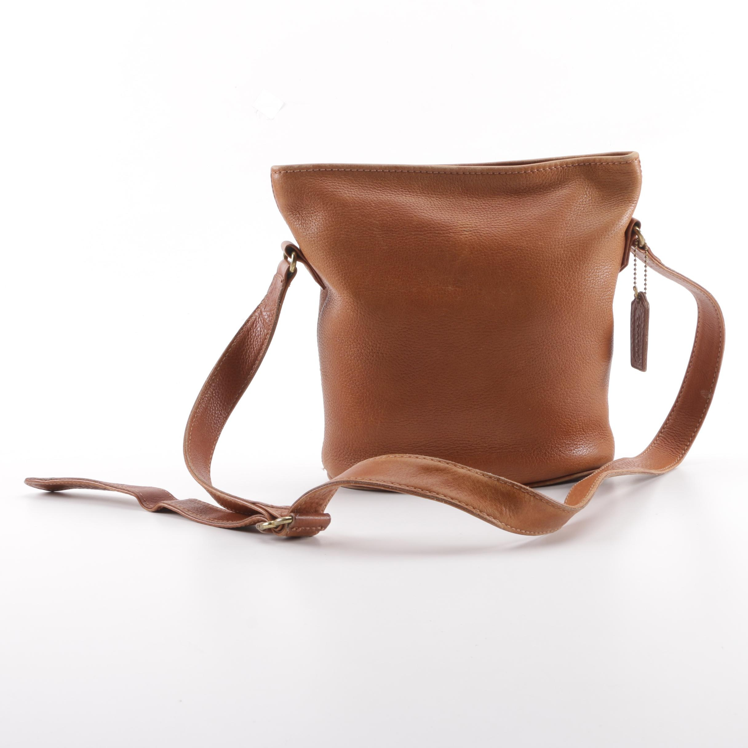 1994 Coach Sonoma Brown Leather Bucket Bag
