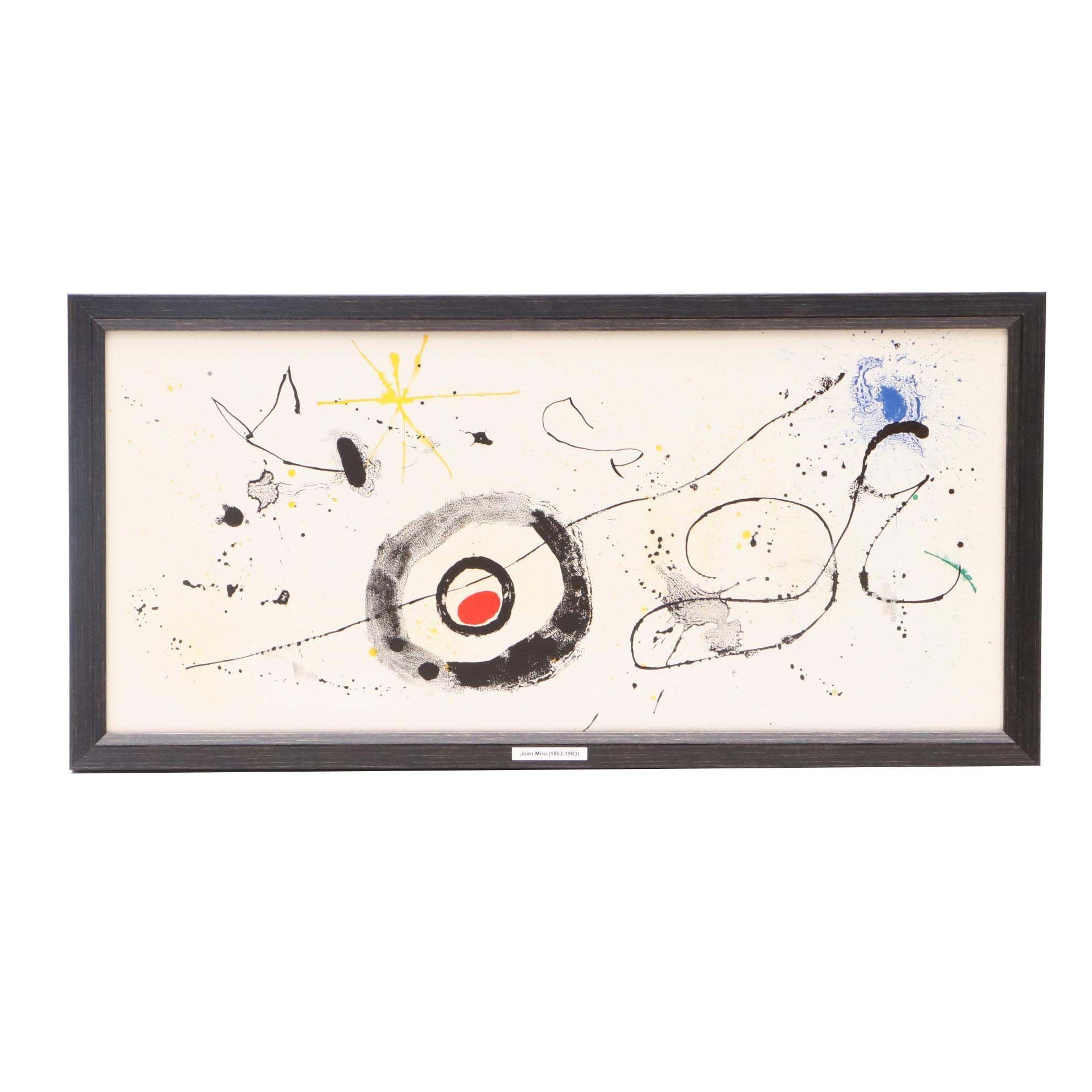 """Joan Miró Triple-Page Color Lithograph for """"Derrière le Miroir"""""""