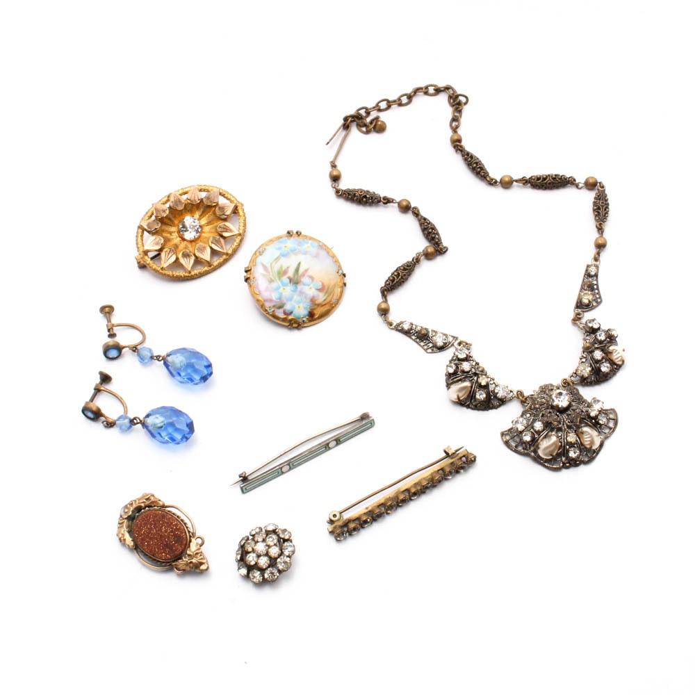 Costume Jewelry, Circa 1900