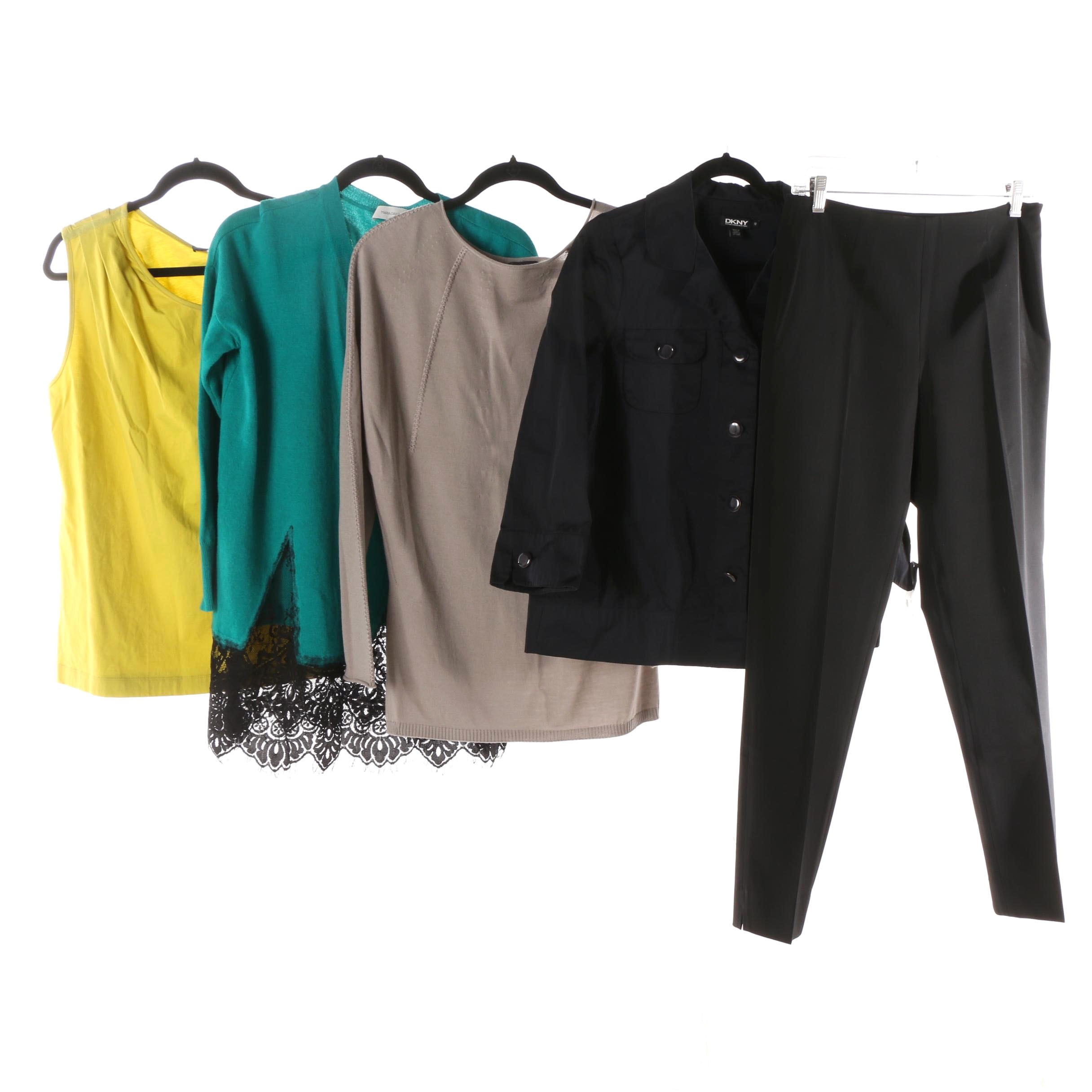 Women's Pants and Tops including Piazza Sempione, Maria Grazia Severi, and DKNY