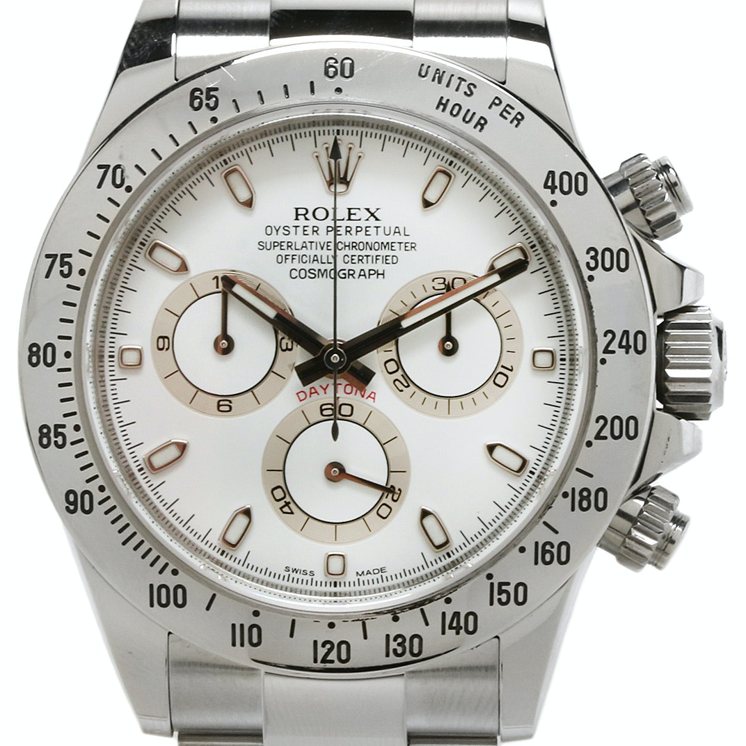 Rolex Cosmograph Daytona Stainless Steel 116520 Automatic Wristwatch