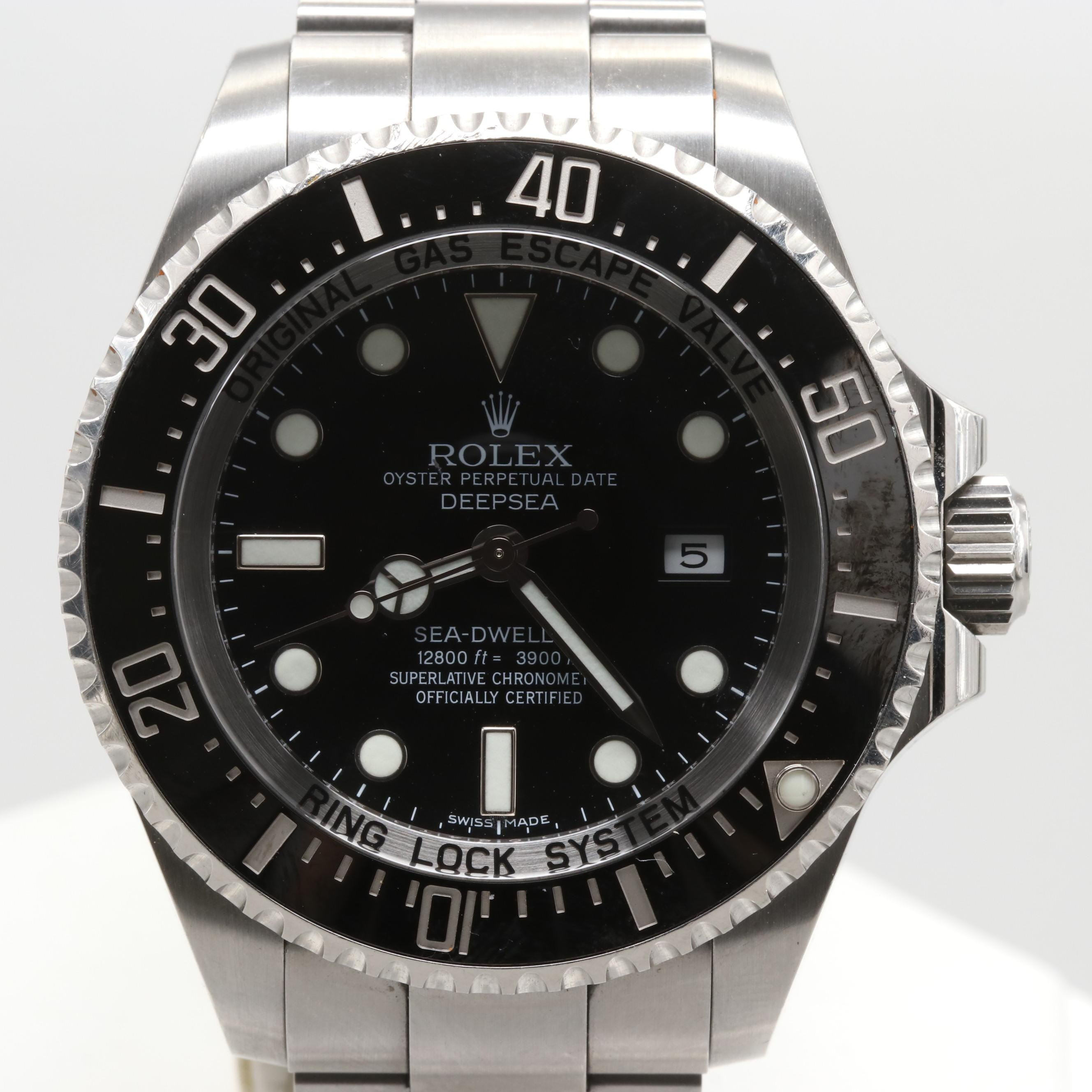 Rolex Stainless Steel Sea-Dweller Deep Sea Automatic Wristwatch