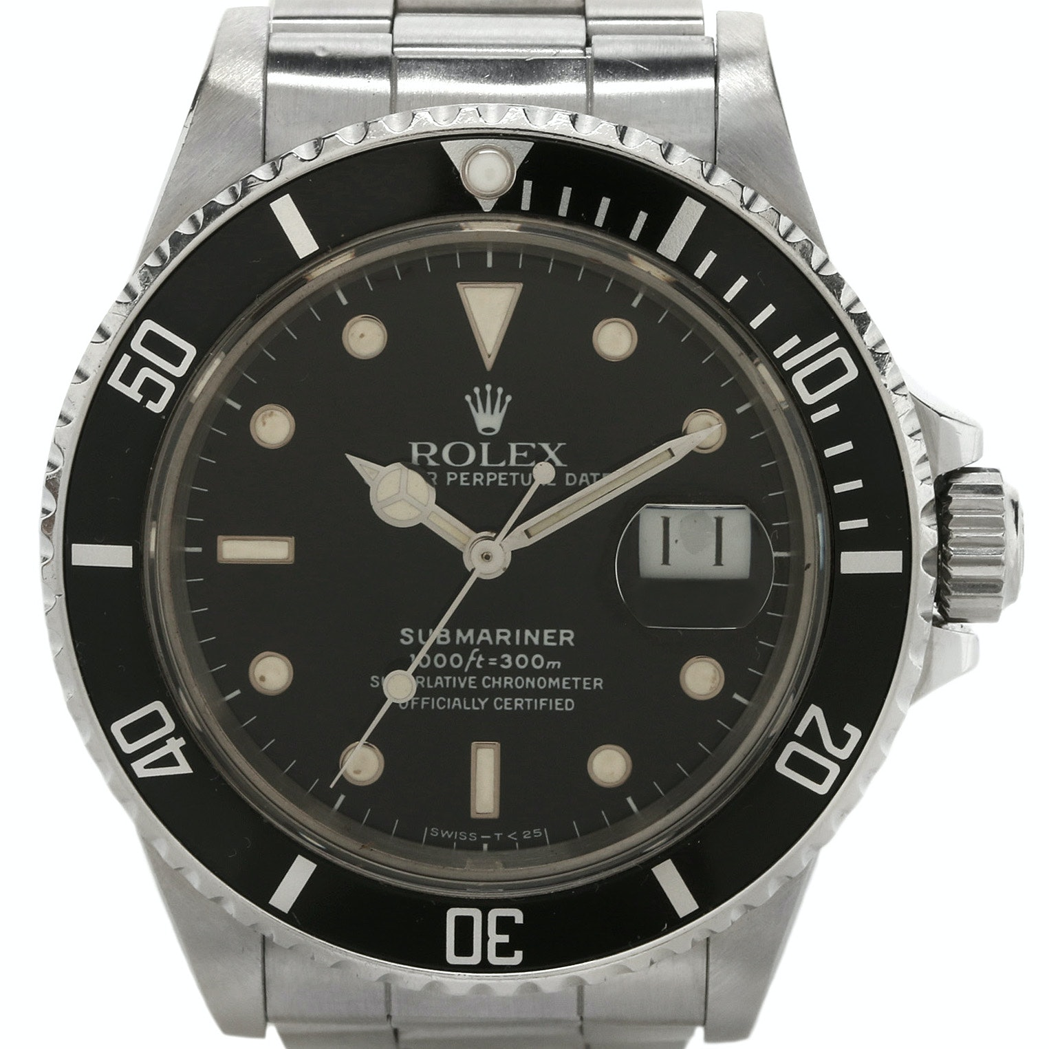 Rolex Submariner Date Stainless Steel Automatic Wristwatch, Circa 1987