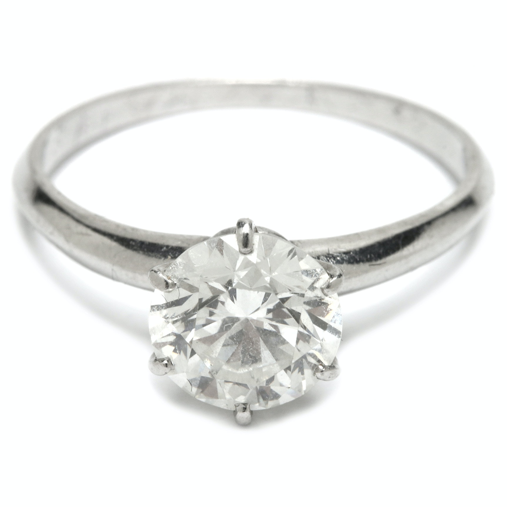 Vintage Tiffany and Co. Platinum 1.85 CT Diamond Solitaire Ring
