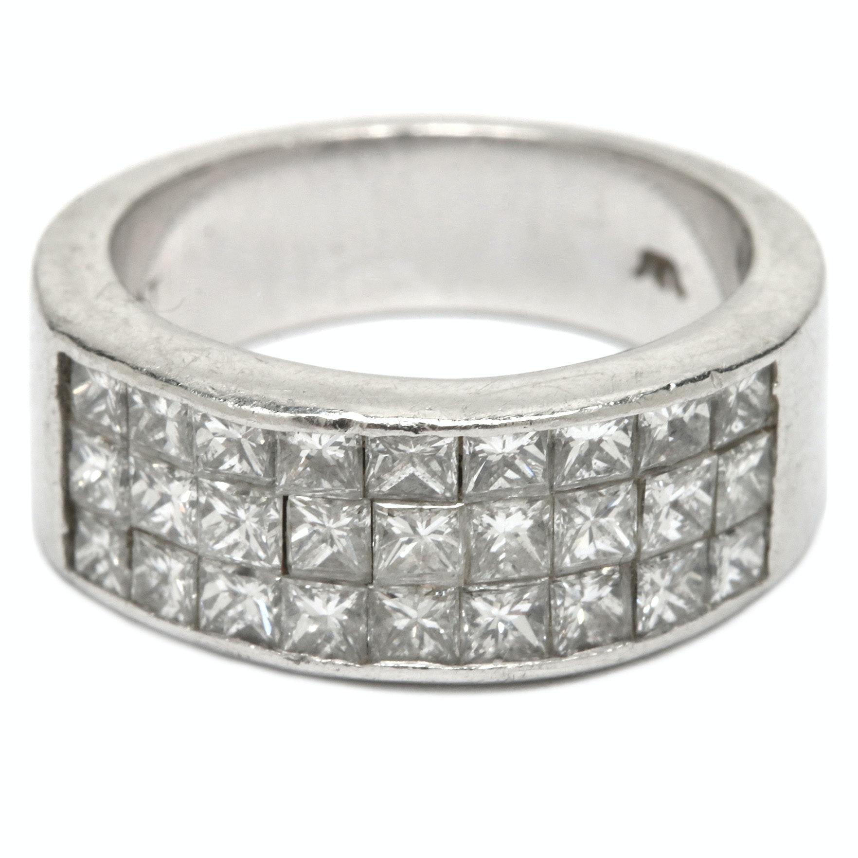 Platinum 1.95 CTW Diamond Ring
