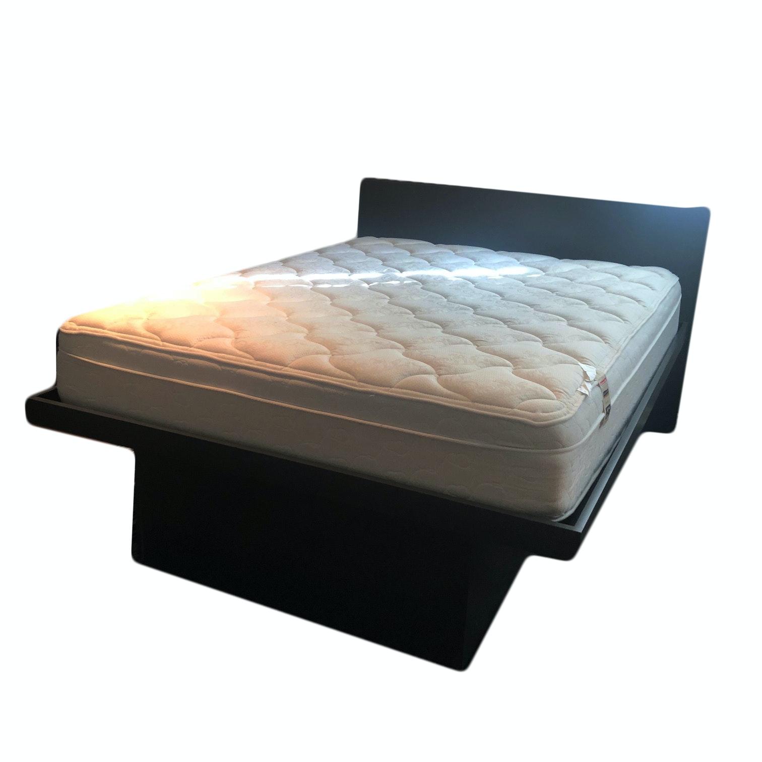 Queen Size Platform Storage Bed Frame, 20th Century