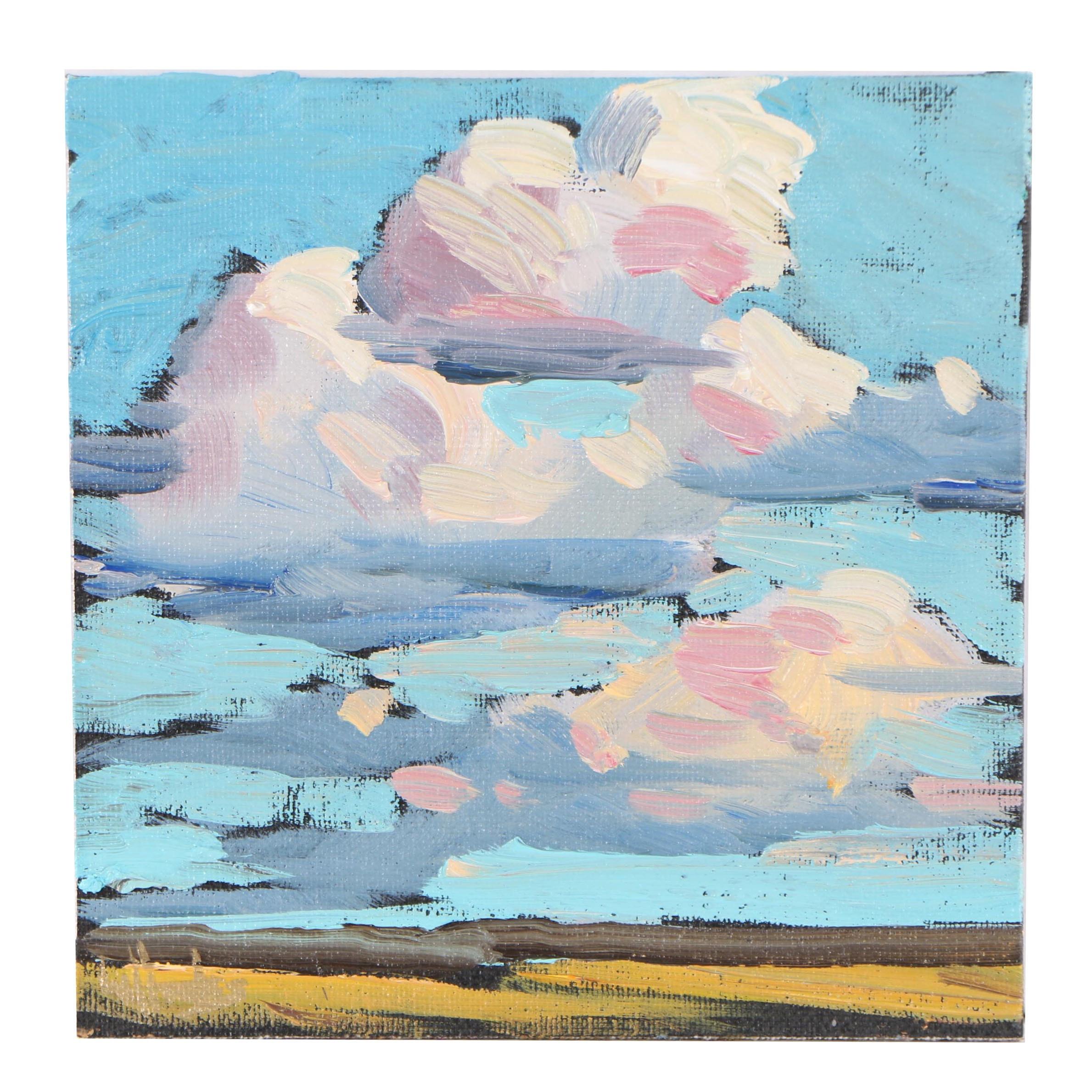 William Hawkins Landscape Oil Painting