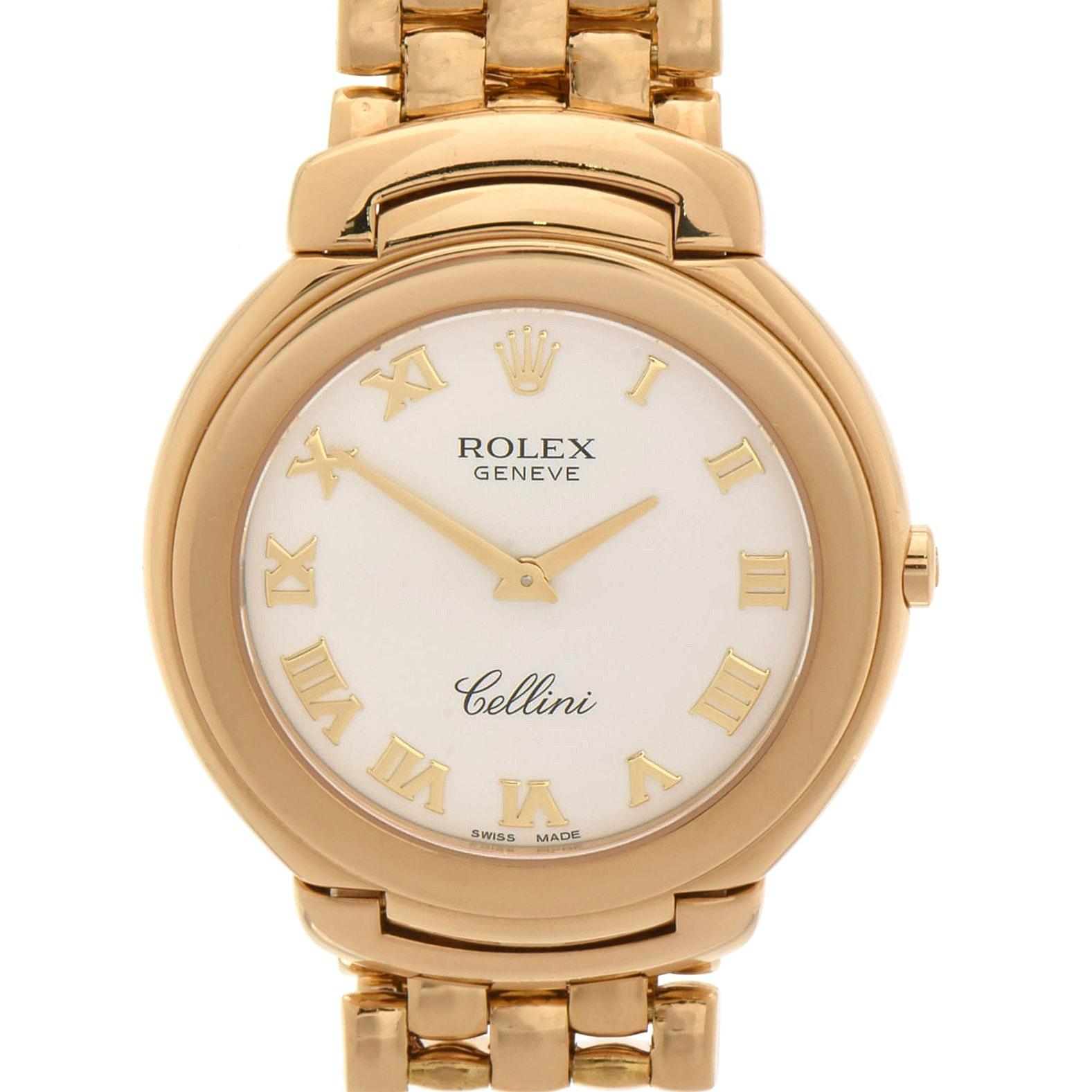 Rolex Cellini 18K Yellow Gold Quartz Wristwatch, Circa 1990s