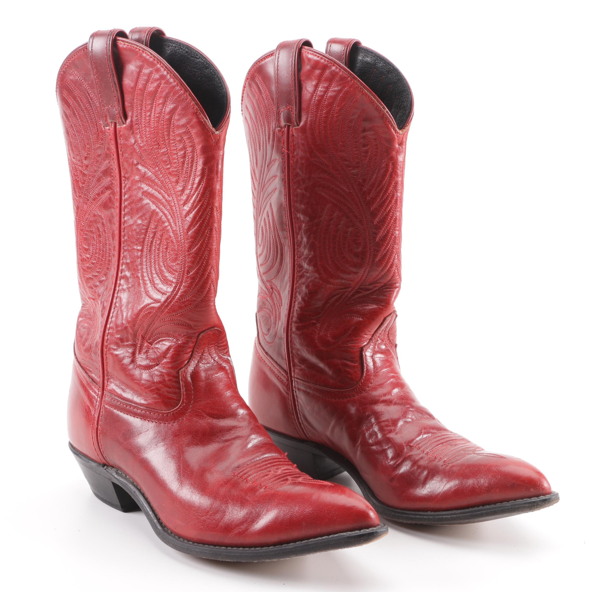 Code West Red Leather Western Boots