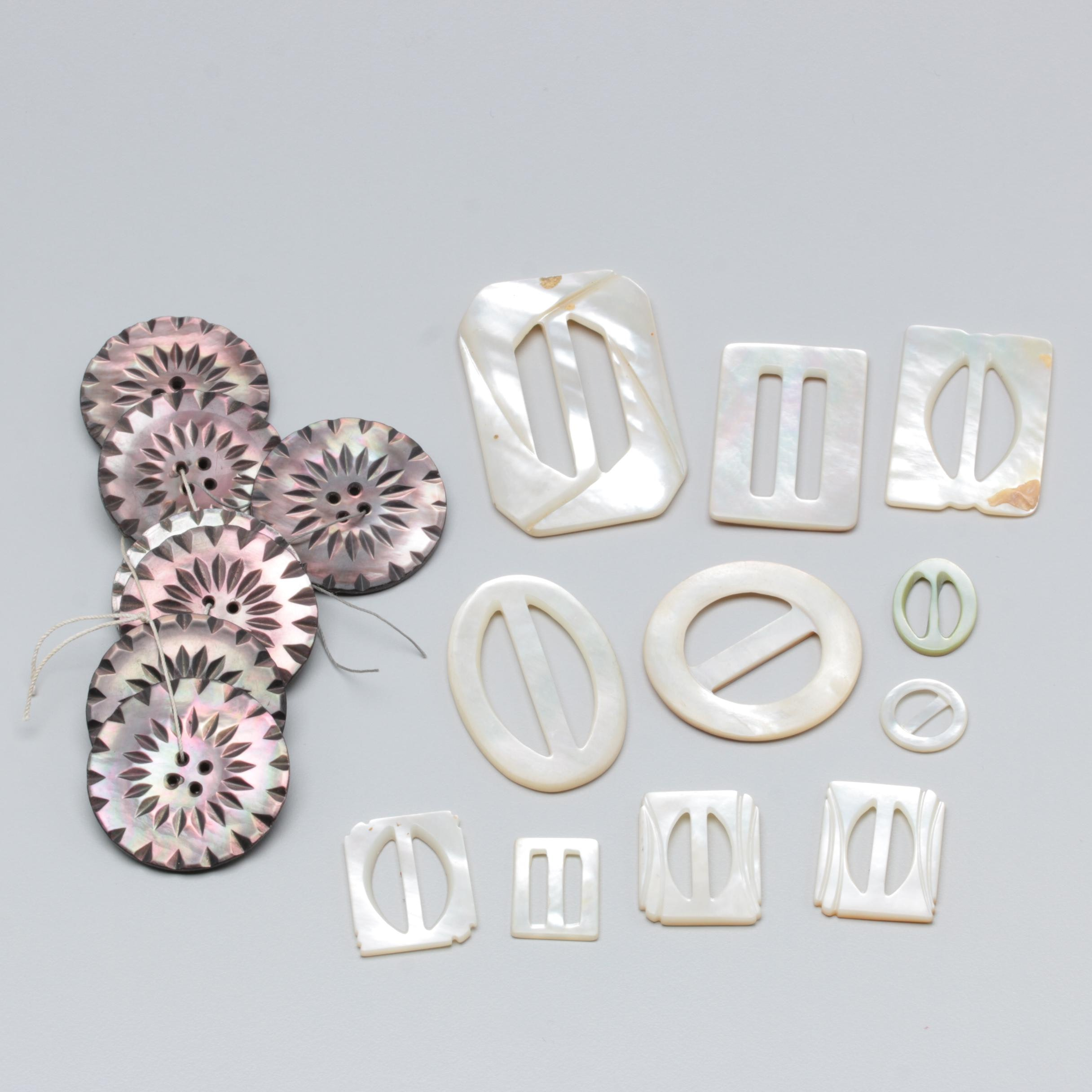 Mother of Pearl Buckle and Button Assortment