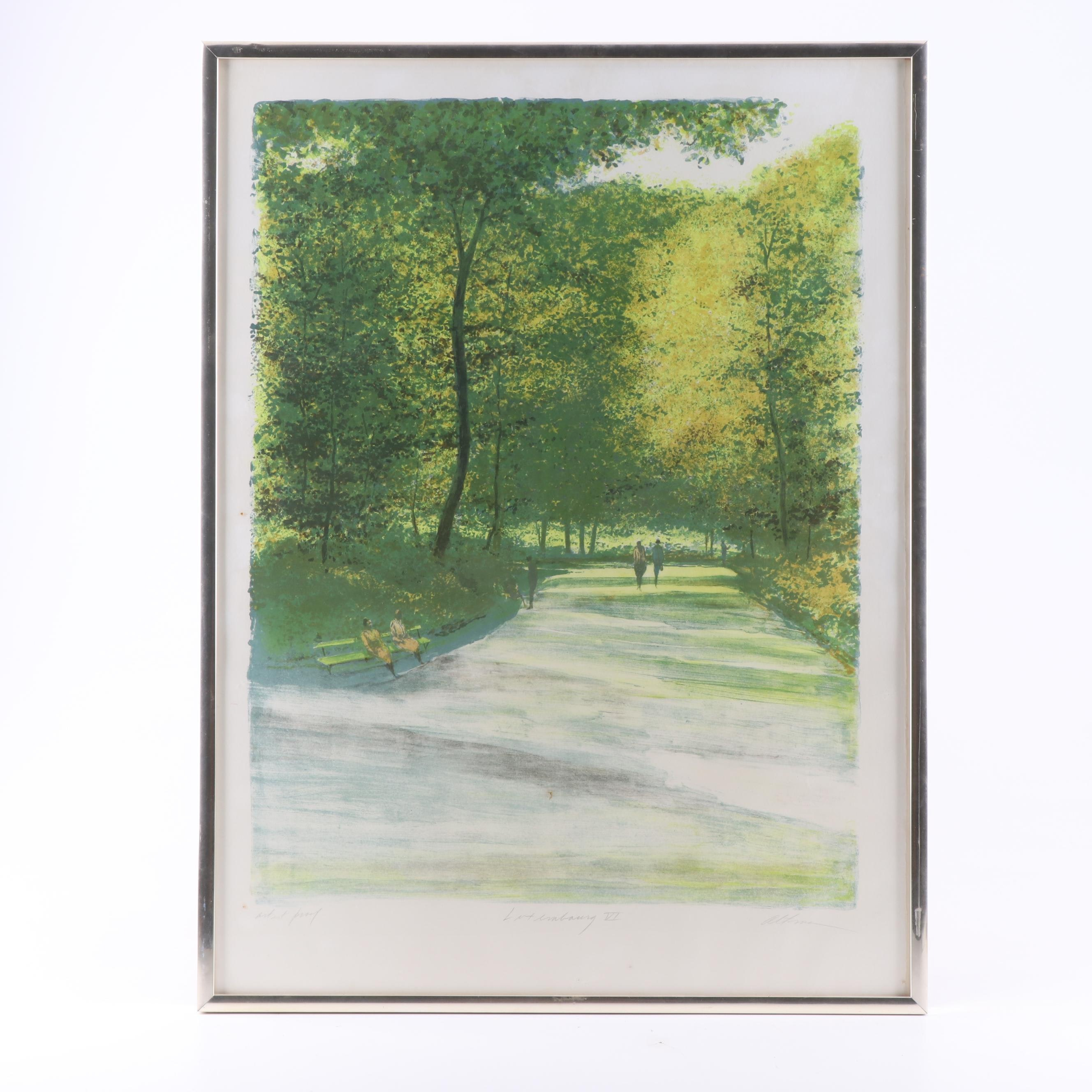 "Harold Altman Lithograph ""Luxembourg VI"""