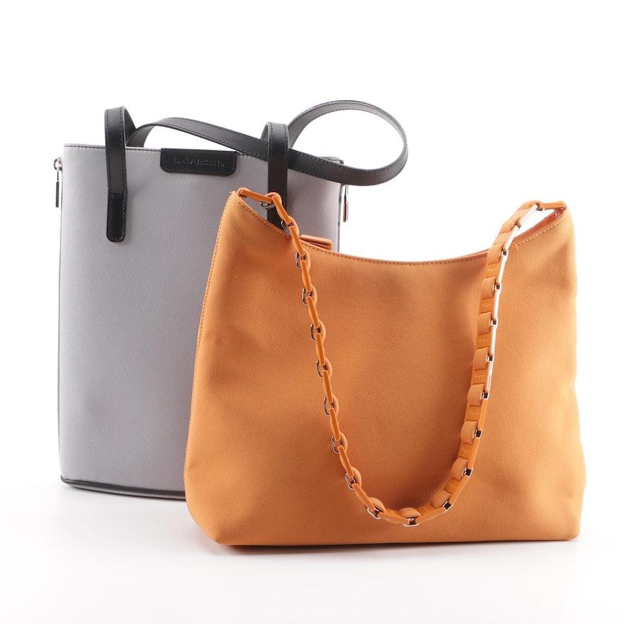 Salvatore Ferragamo Orange Hobo Bag and Lancel of Paris Shoulder Bag   EBTH 2f4f06c9bab9b