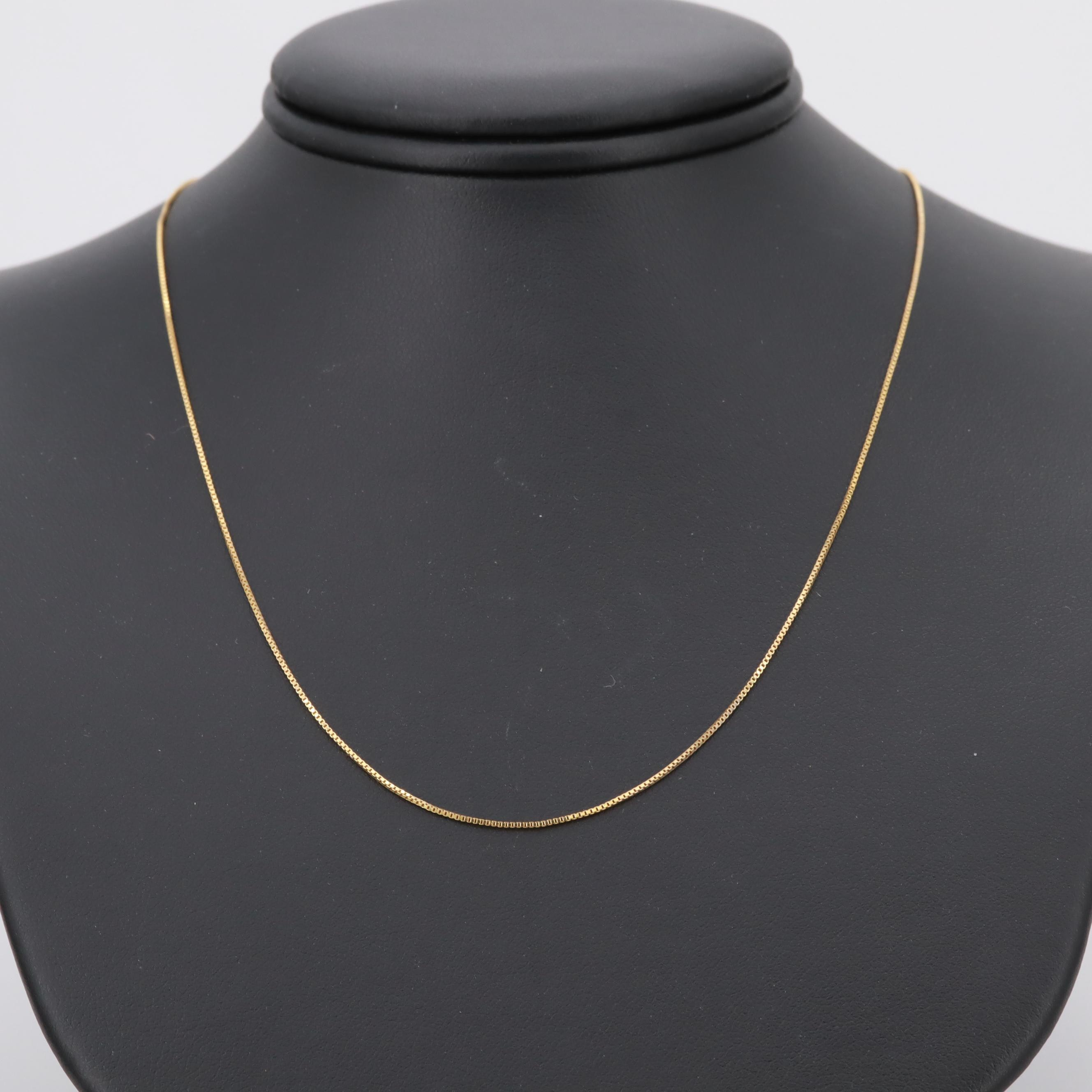 10K Yellow Gold Box Chain Necklace