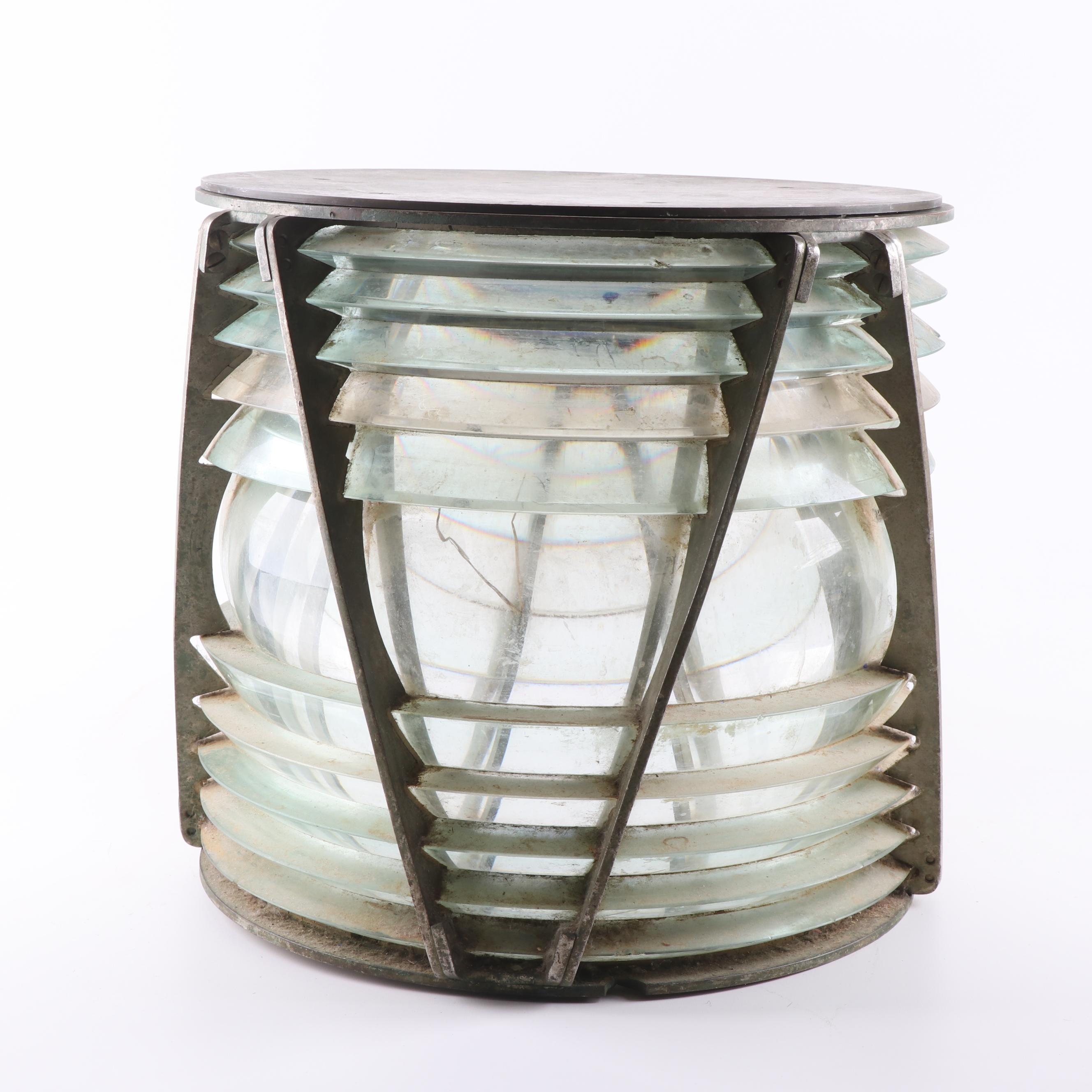 Glass and Metal Lighthouse Light