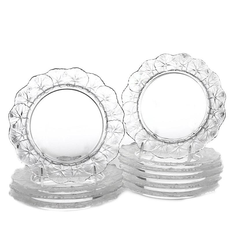 Lalique Crystal Honfleur Salad Plates