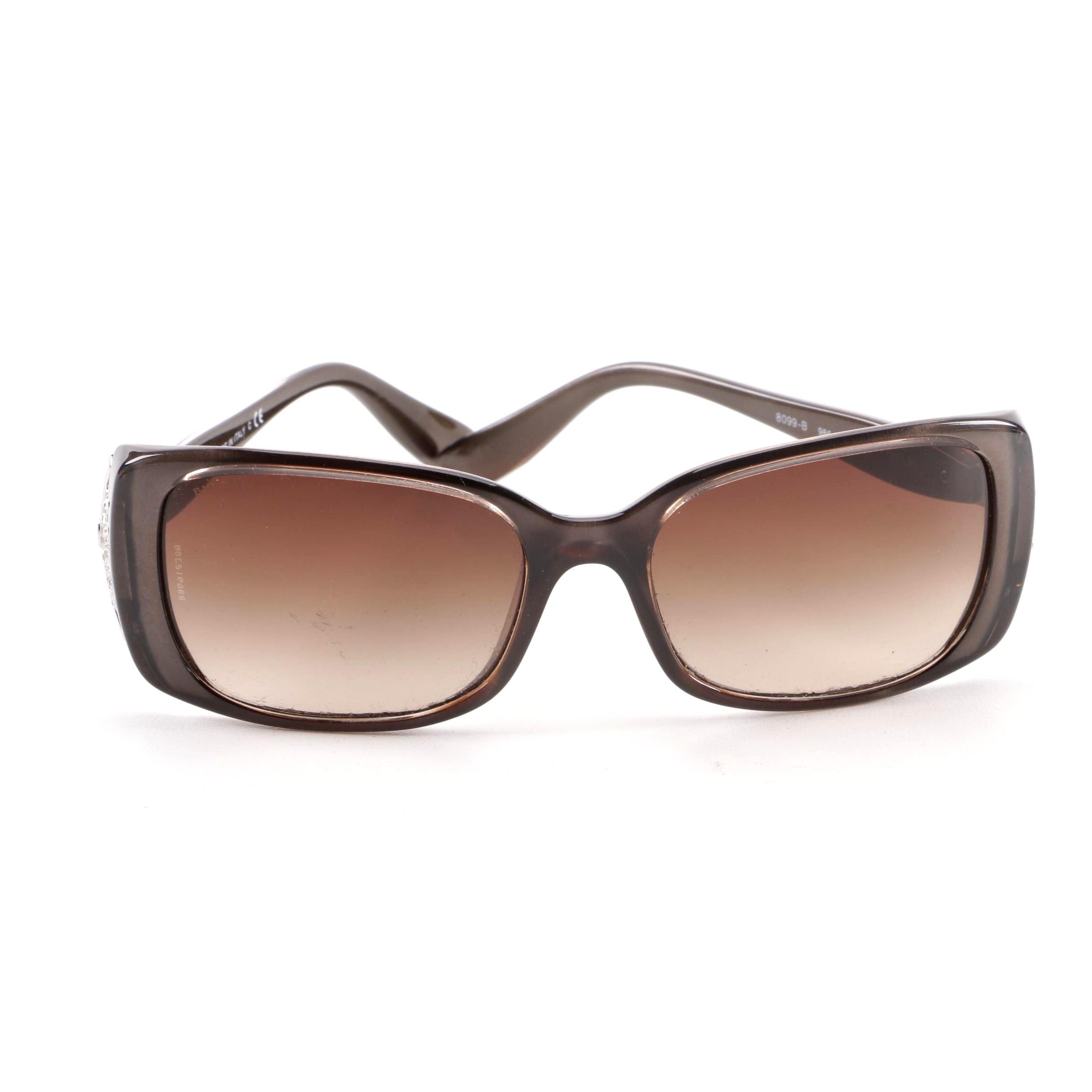 BVLGARI 8099-B Brown Rectangular Sunglasses