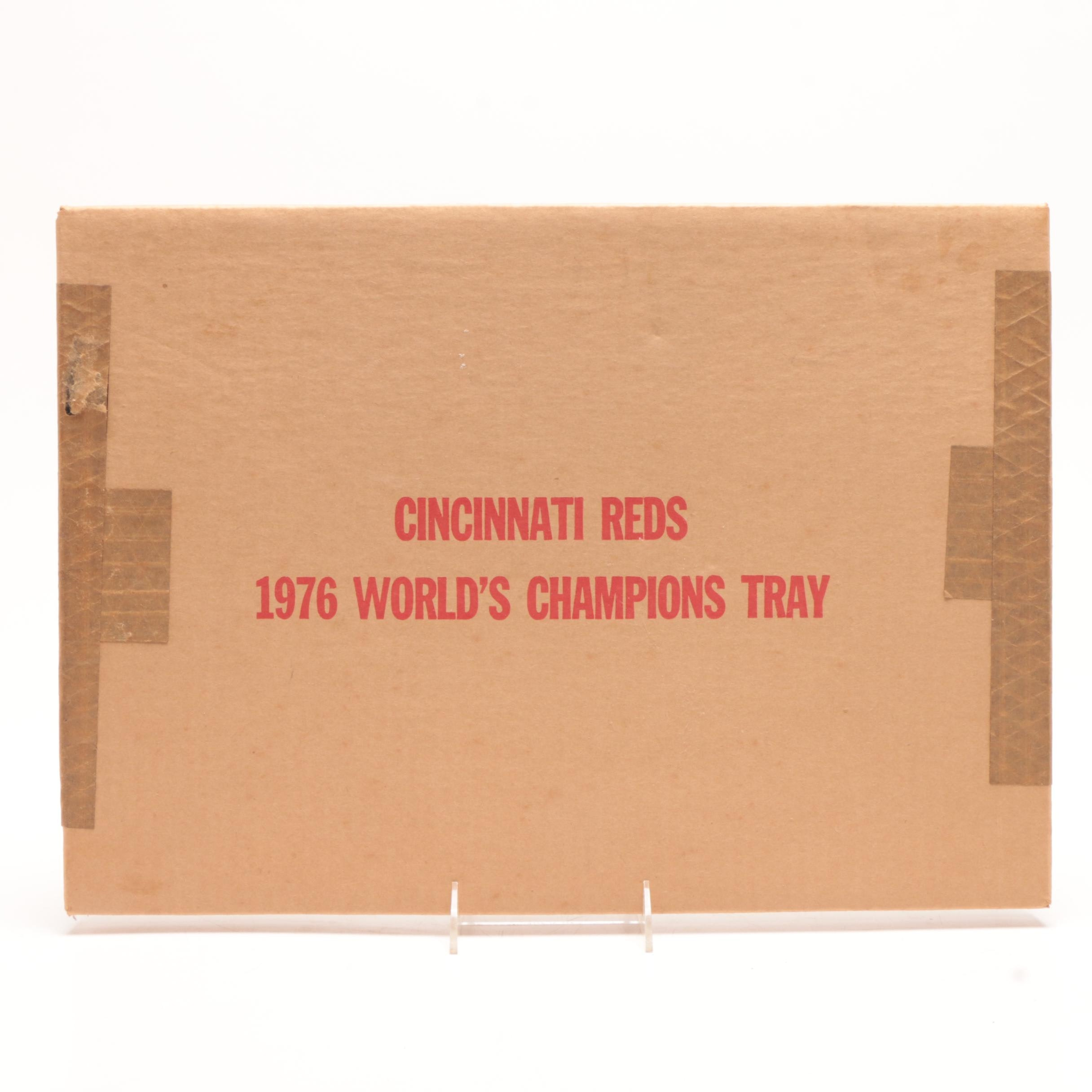 1976 Reds Tray Sealed in Box