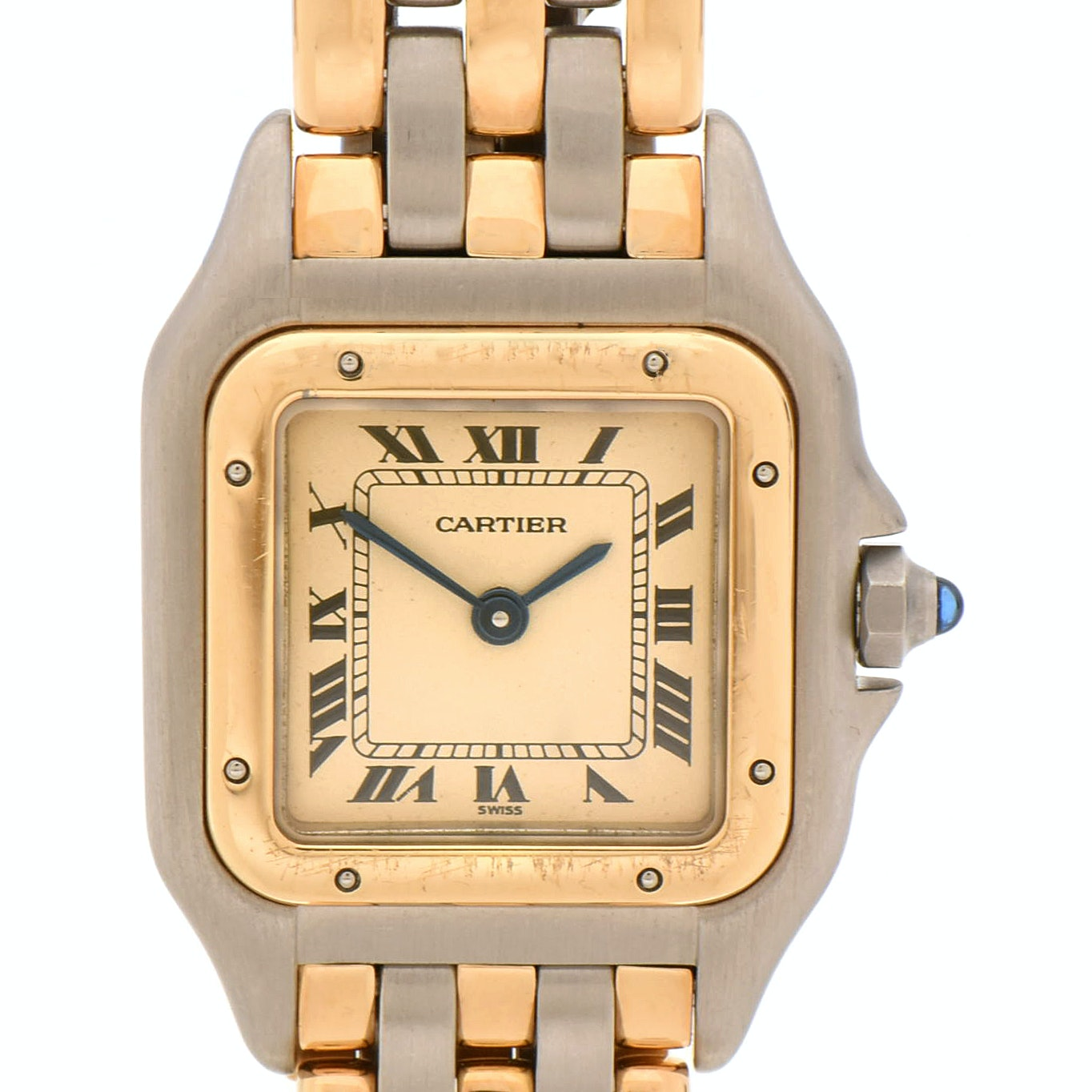 "Cartier ""Panthère"" 18K Yellow Gold and Stainless Steel Quartz Wristwatch"