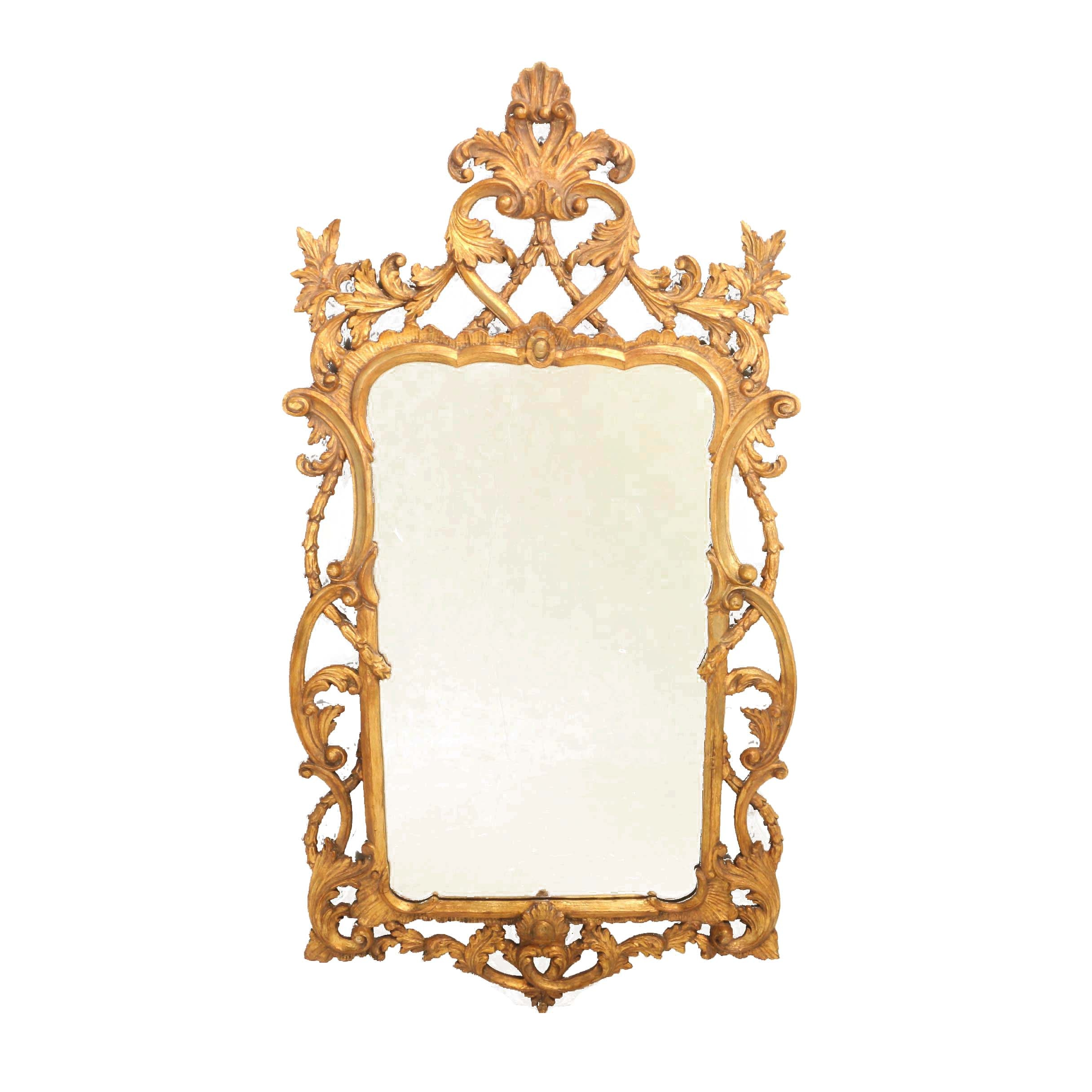 George II Style Giltwood Mirror, 20th Century