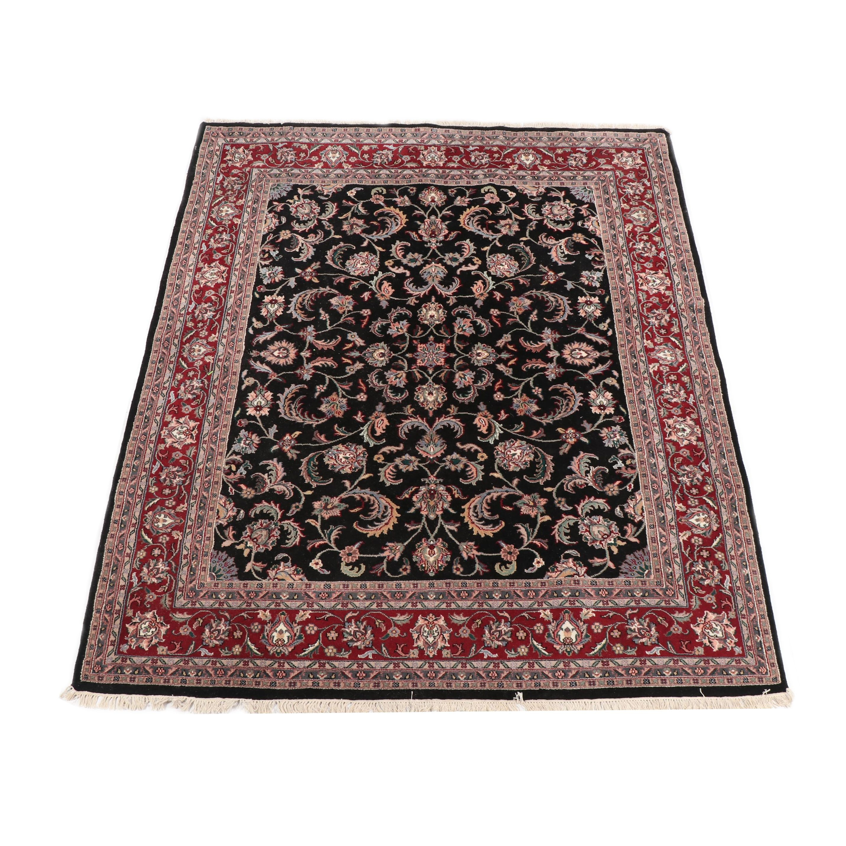 Hand-Knotted Indo-Persian Agra Wool Rug