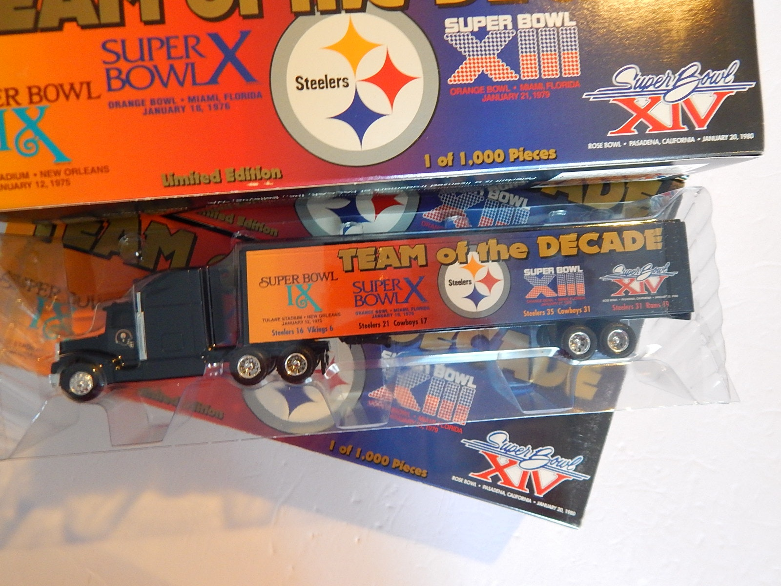 """Die Cast Super Bowl Pittsburgh Steelers """"Team of the Decade""""Toy Trucks"""