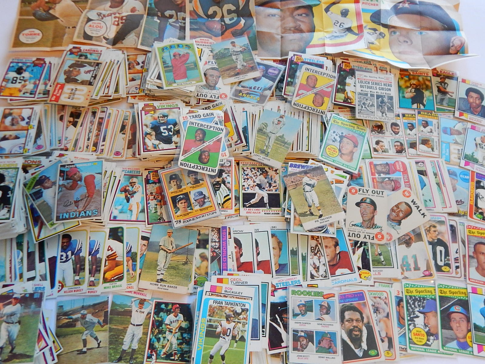 Large 1960s/1970s Baseball and Football Card Collection