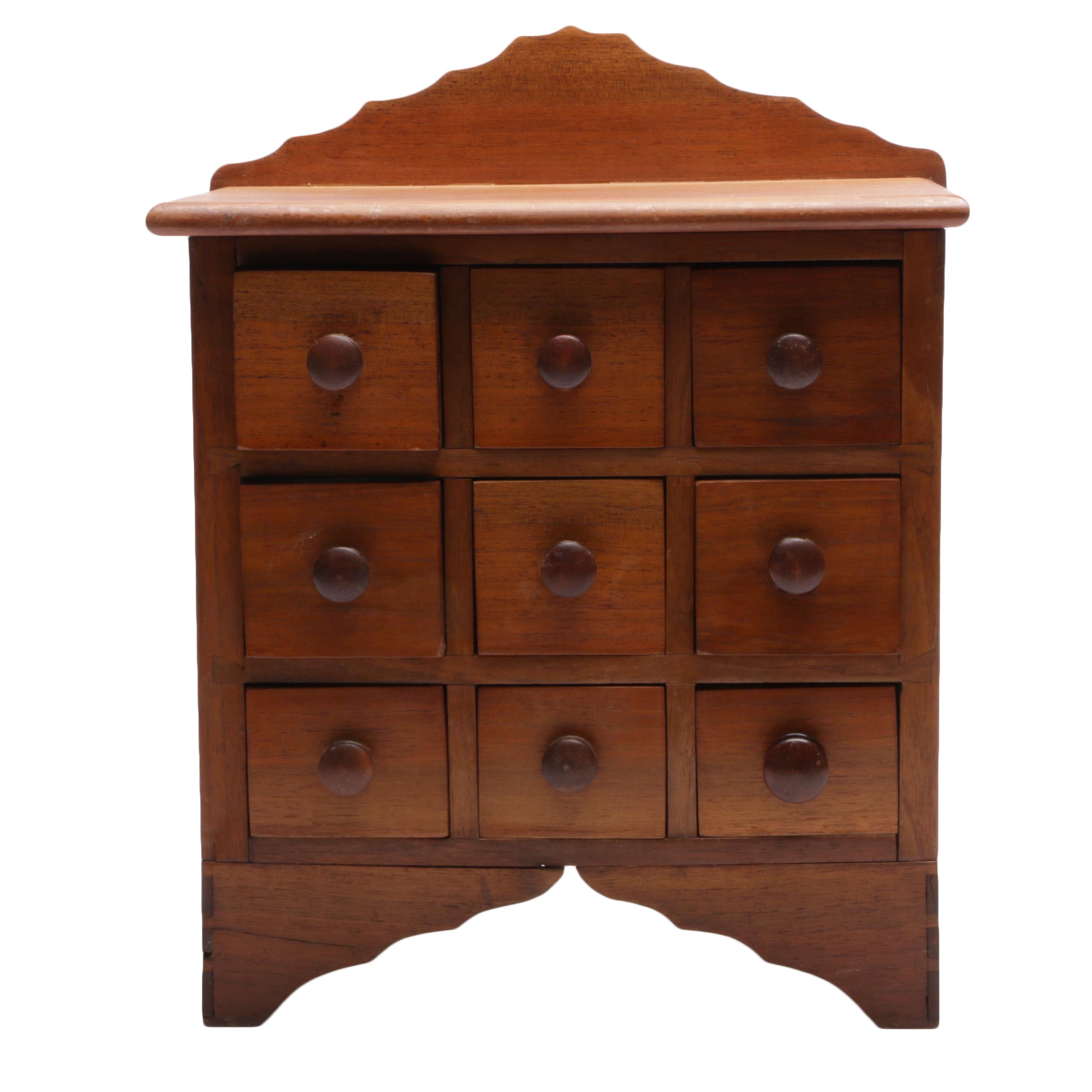 Early American Style Spice Chest in Walnut