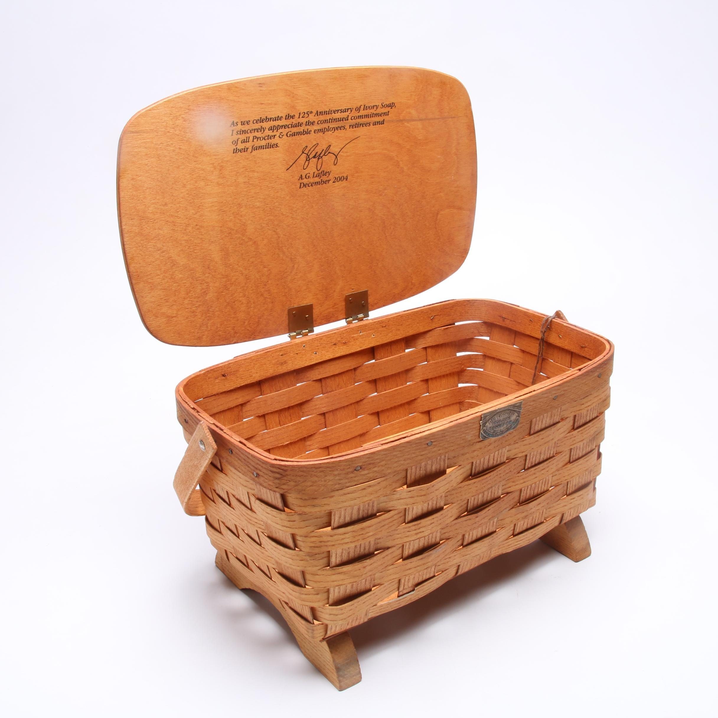 2004 Commemorative Procter & Gamble Ivory Soap Basket