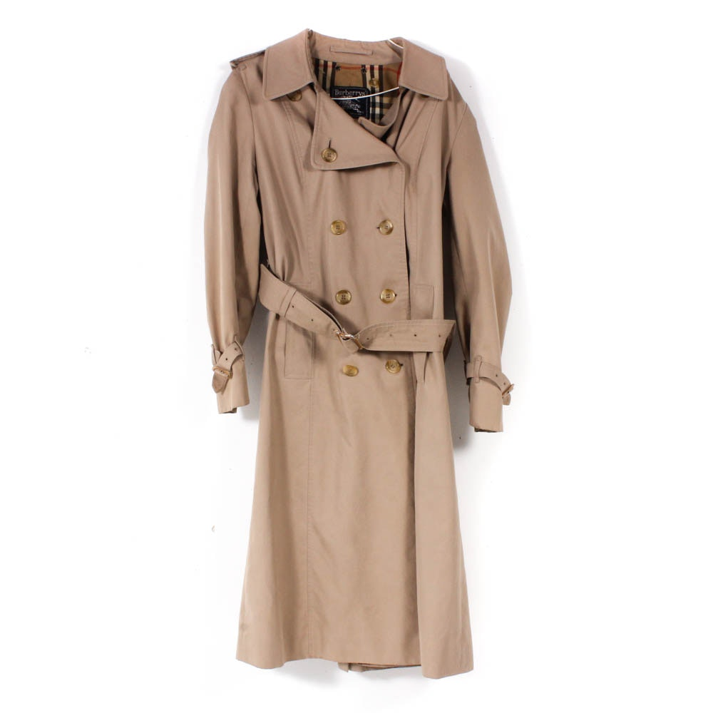Women's Burberrys London Double-Breasted Trench Coat