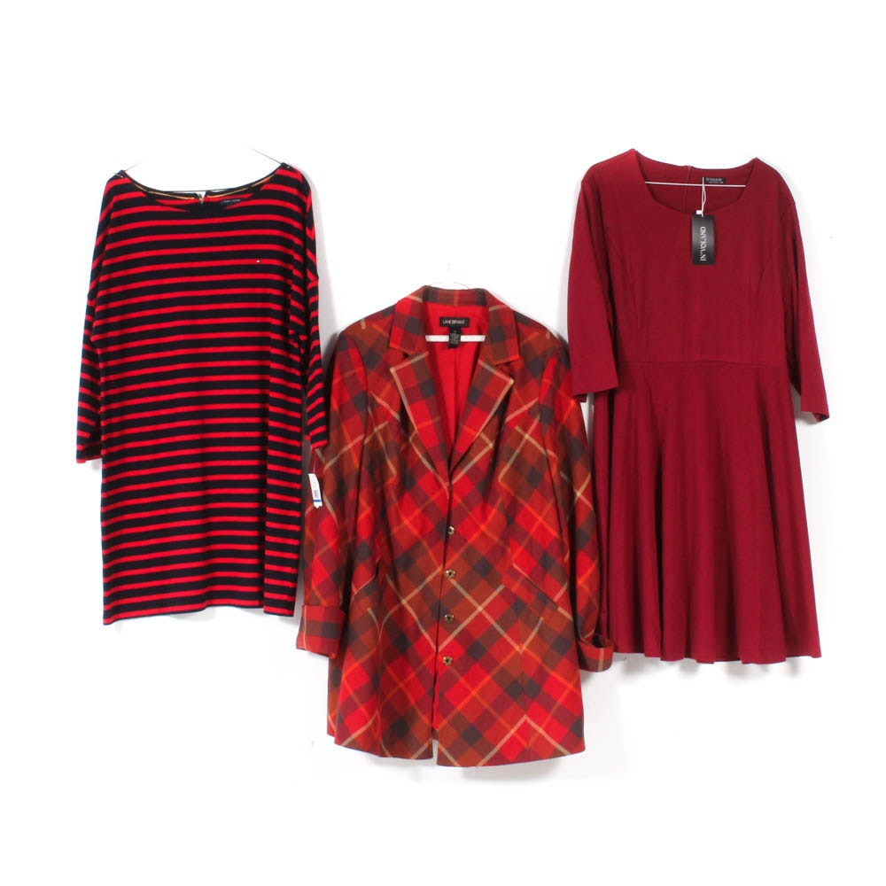 Women's Lane Bryant Blazer, Tommy Hilfiger and In'Voland Dresses
