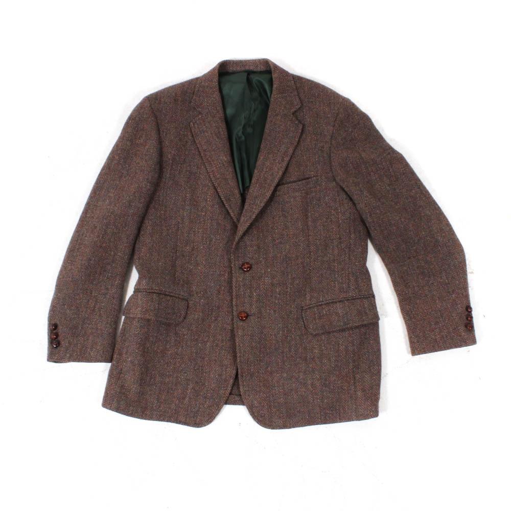 Men's Harris Tweed Scottish-Made Wool Jacket