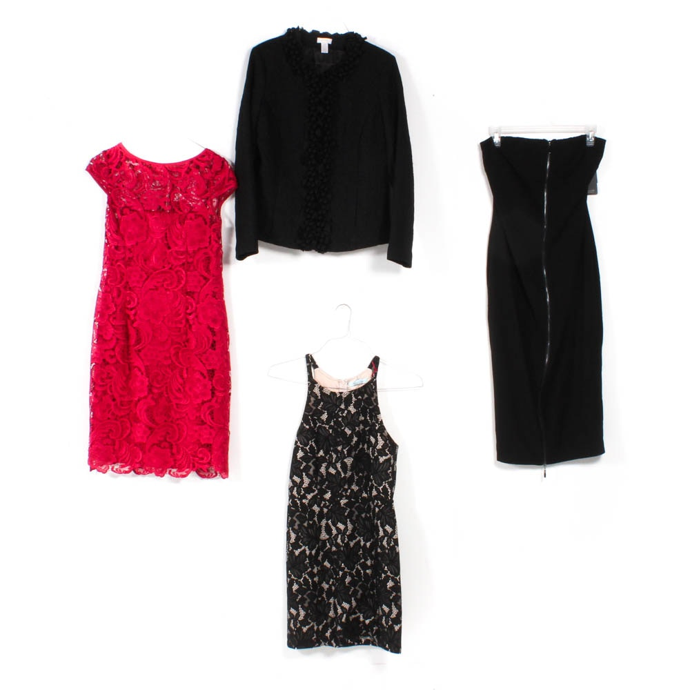 Women's Dresses and Jacket Including Adrianna Papell, and Guess