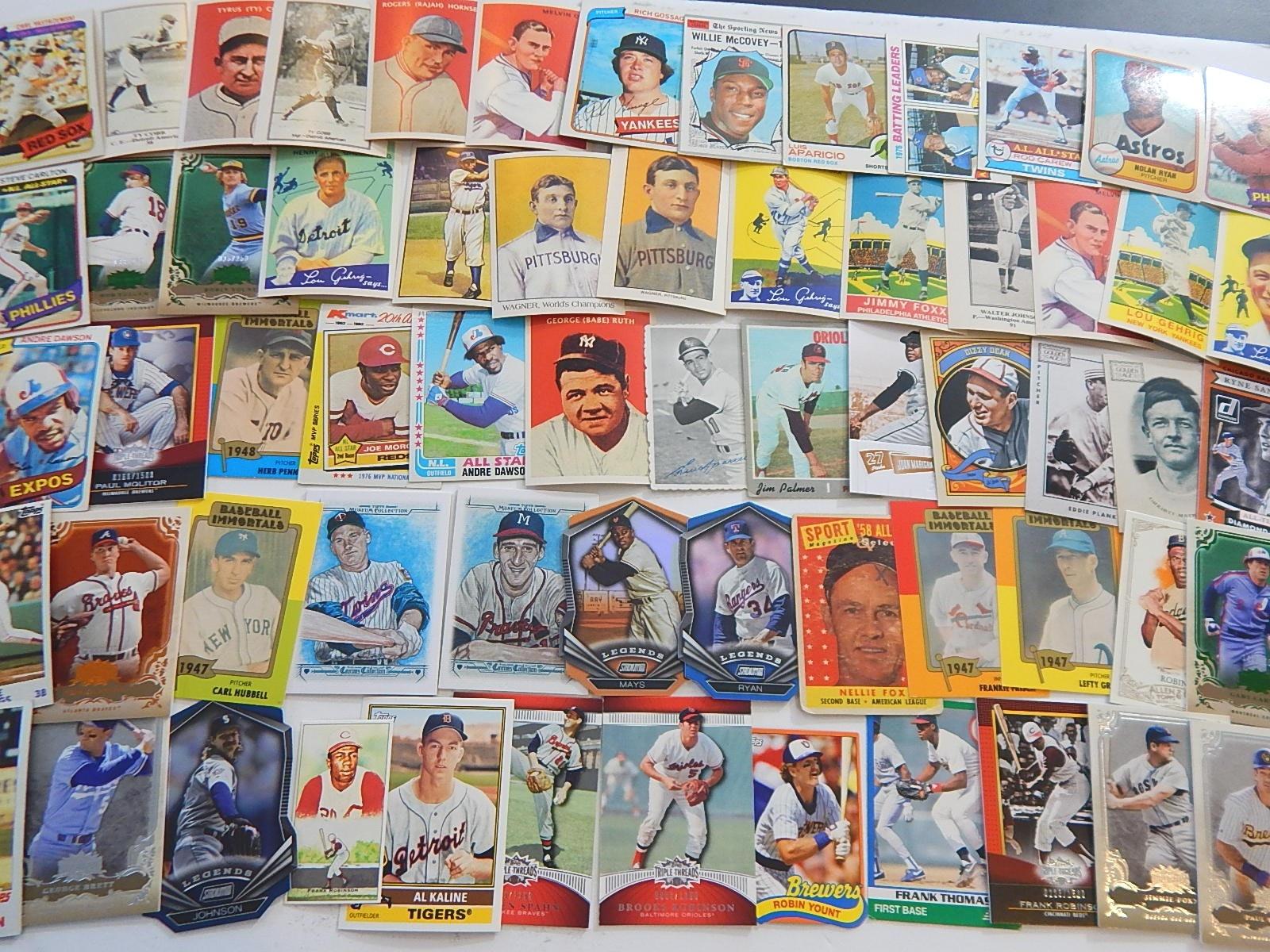 1970s to 2000s Baseball Hall of Fame Baseball Player Card Collection