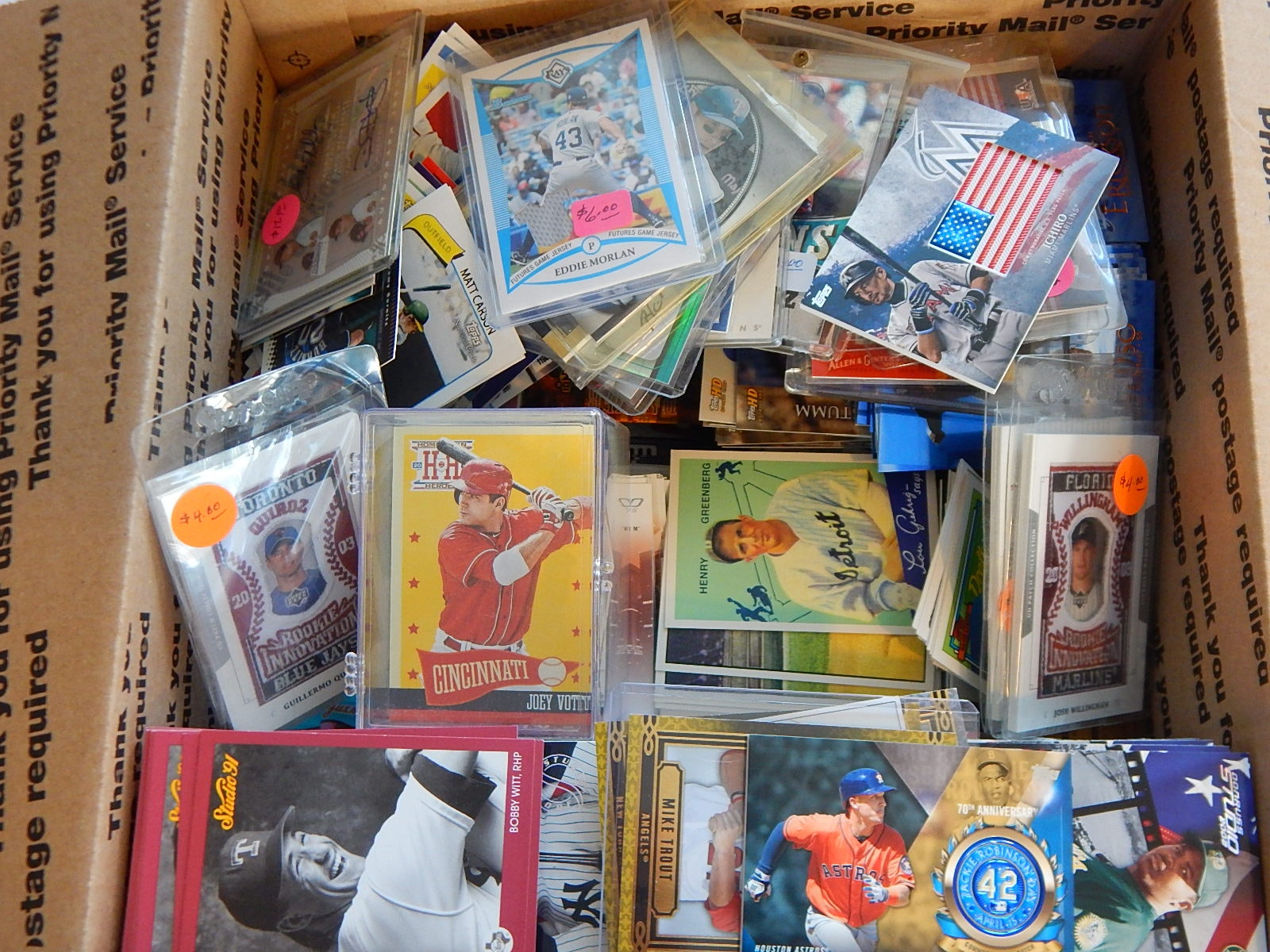 Large Box of Baseball Cards from 1990s and 2000s