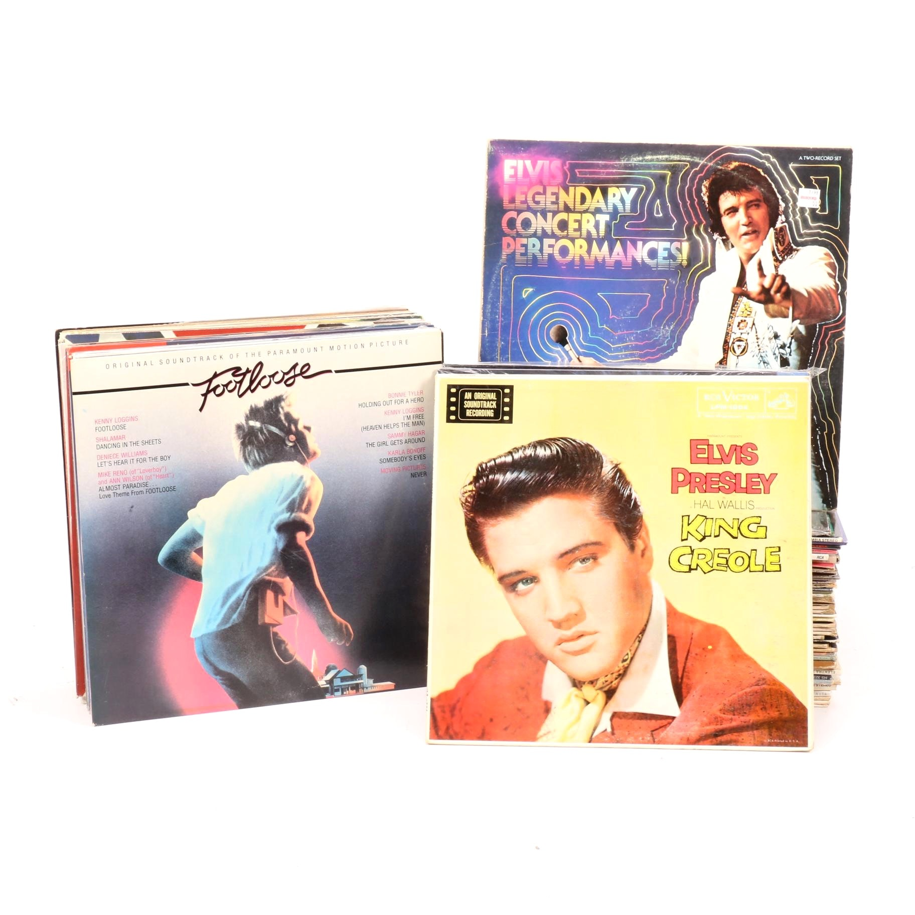 Assorted Vintage Vinyl Collection Including Simon & Garfunkle and Neil Diamond