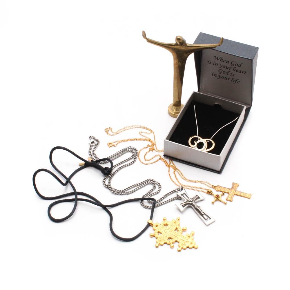 Religious Motif Jewelry Including MMA