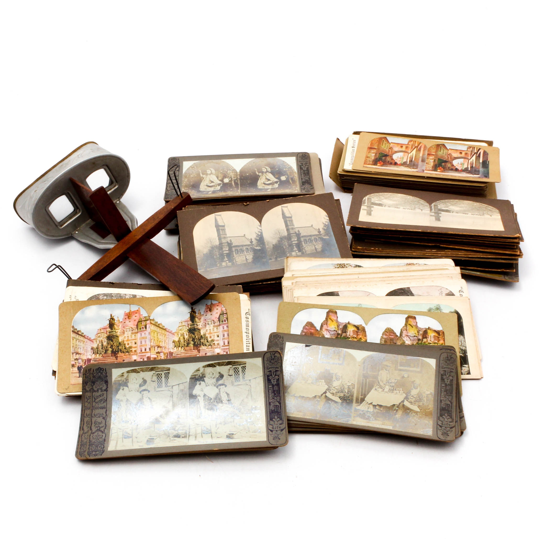 Underwood & Underwood Stereoscope with View Cards