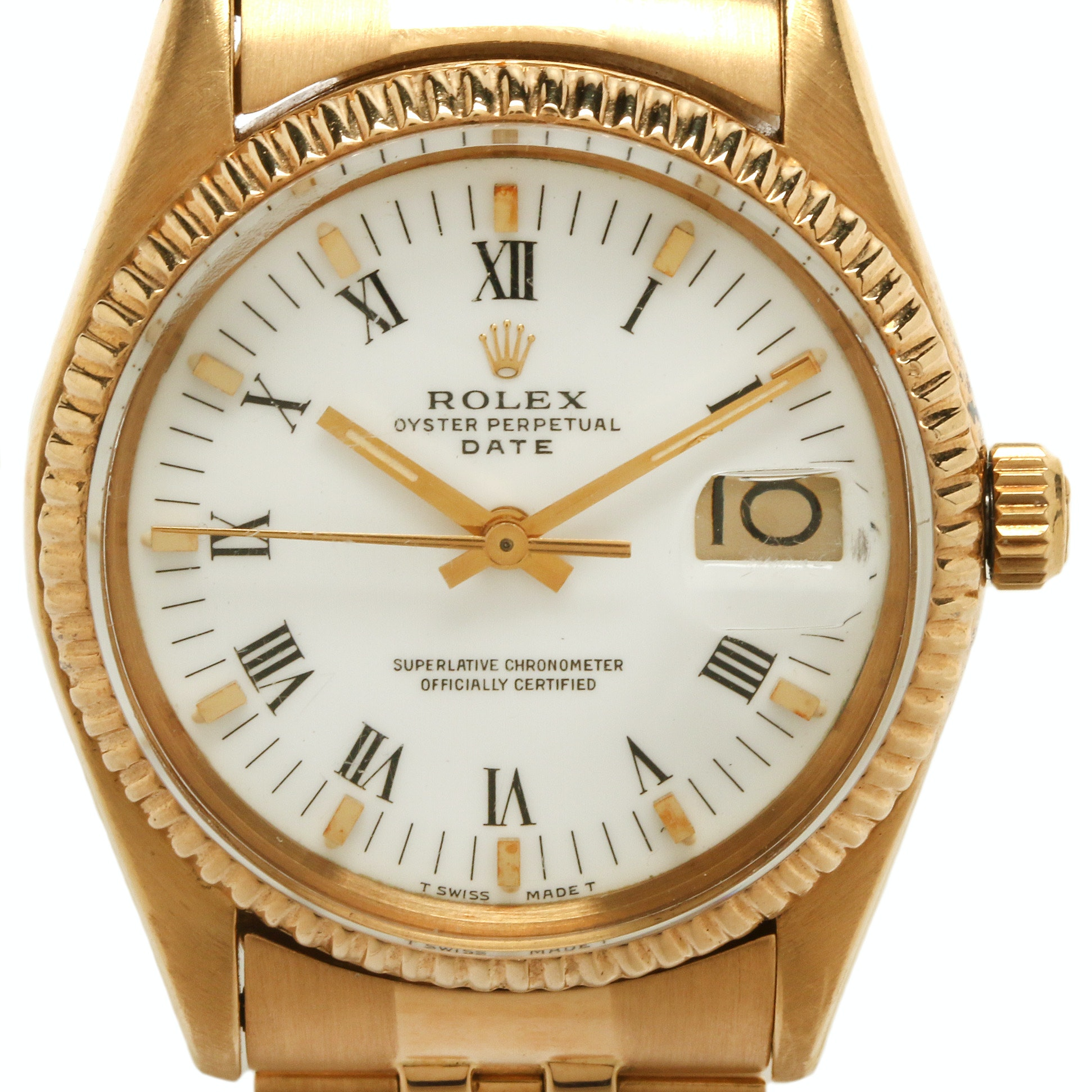 Rolex Date 18K Yellow Gold Wristwatch, 1983