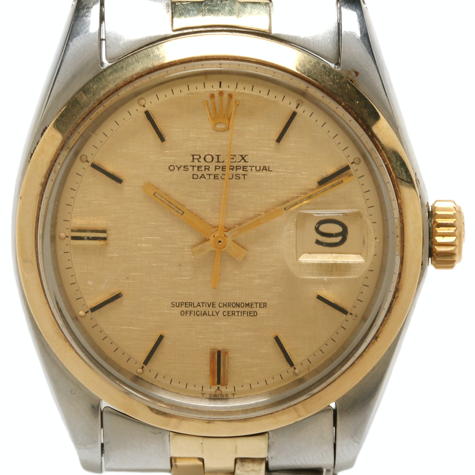 Rolex Datejust Stainless Steel and 14K Yellow Gold Wristwatch, 1968