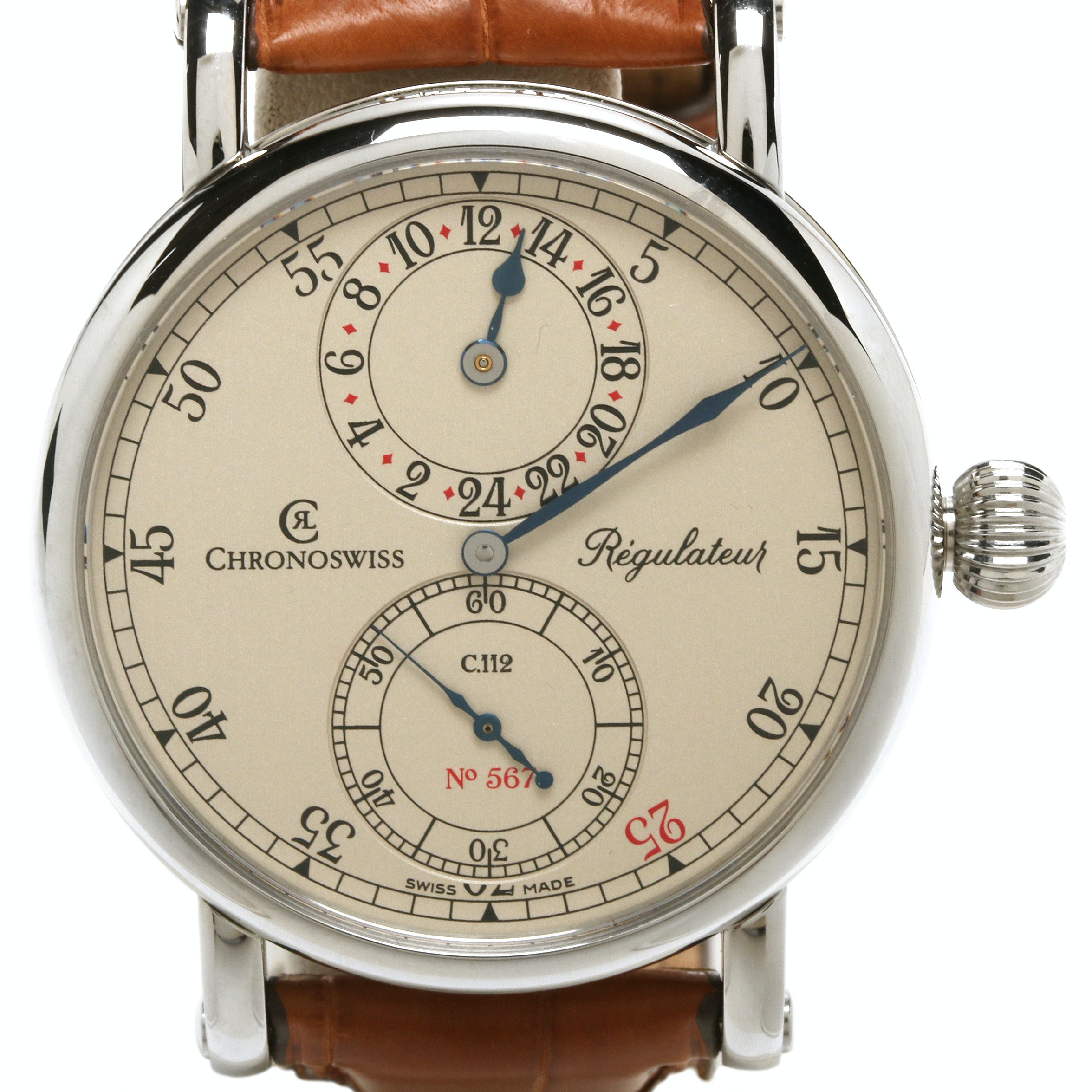 Chronoswiss Regulateur 24 Limited Edition Wristwatch With Commemorative Coin