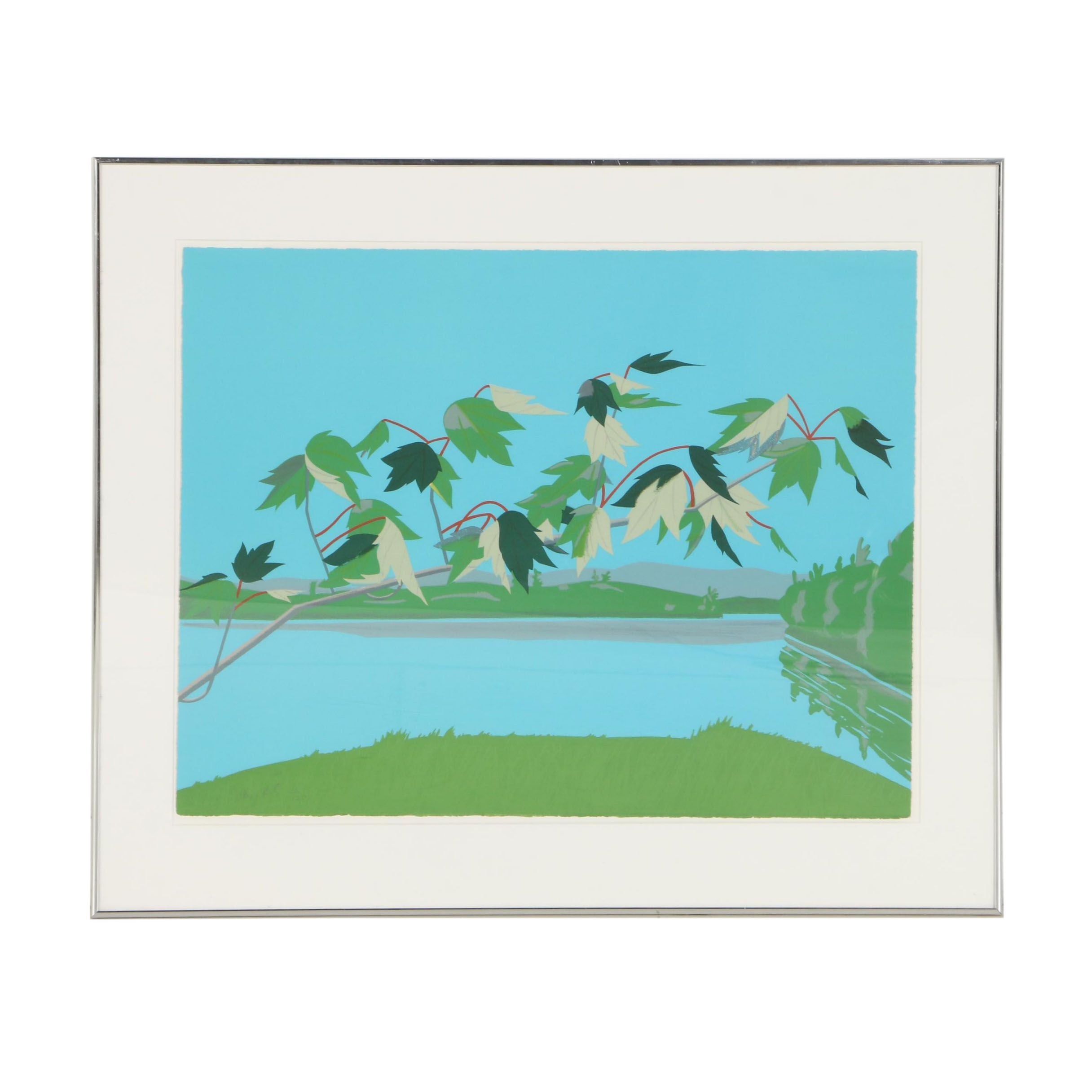 "Alex Katz Limited Edition Lithograph ""Late July"""