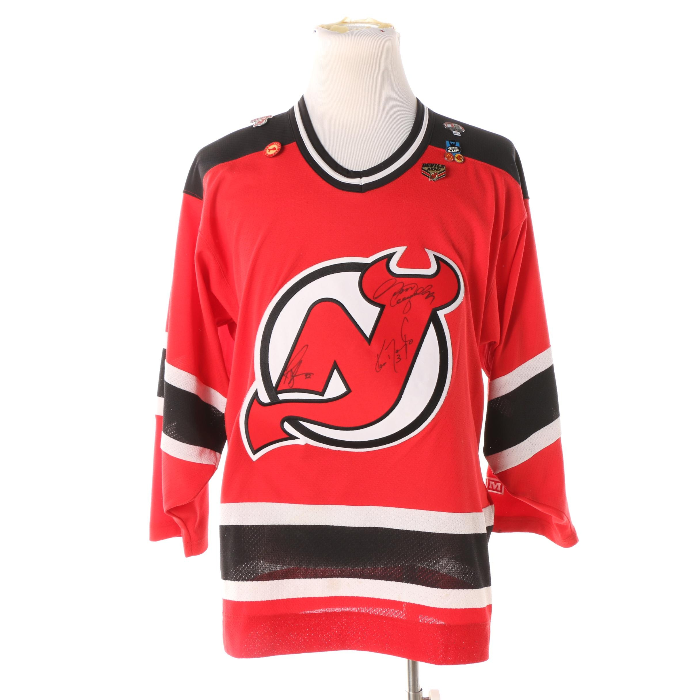 Ken Daneyko and Rob Skrlac Autographed New Jersey Devils Jersey, circa 2003