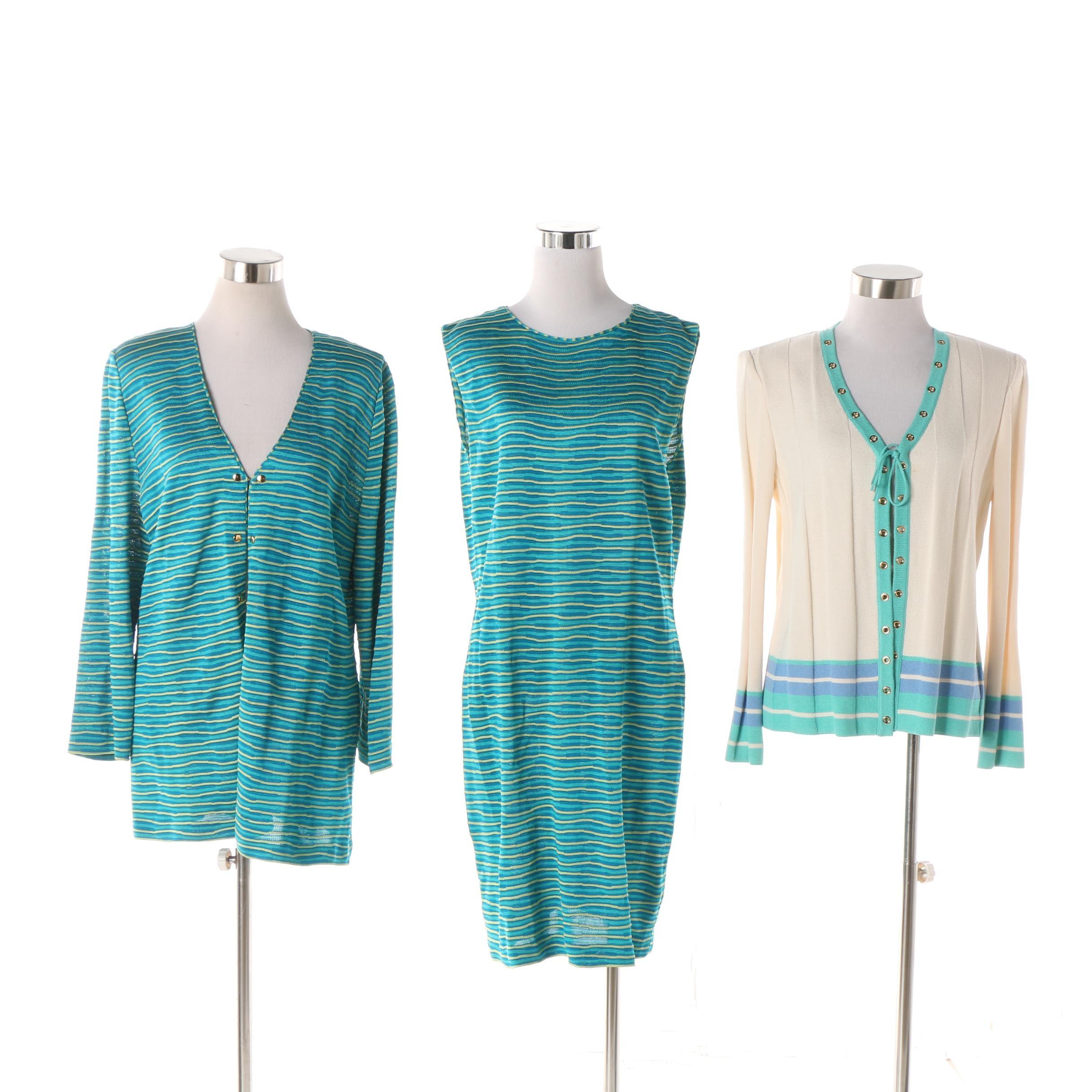 St. John Collection Knit Dress Set and St. John Sport Cardigan
